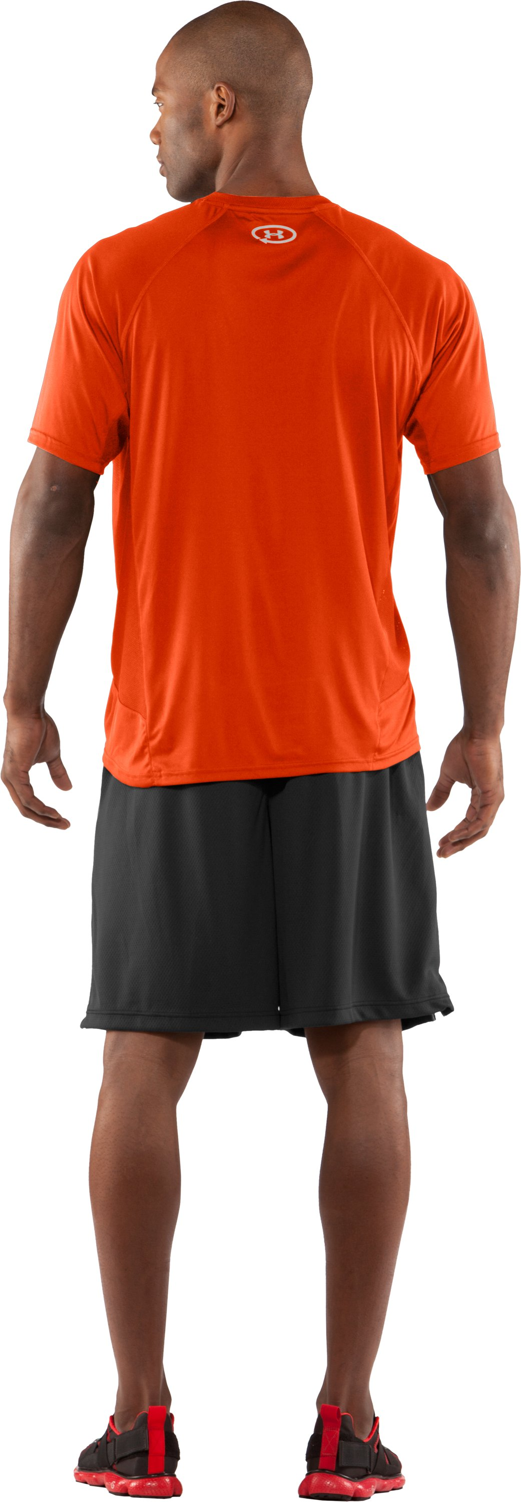 Men's Draft UA Catalyst Short Sleeve T-Shirt, Dark Orange, Back