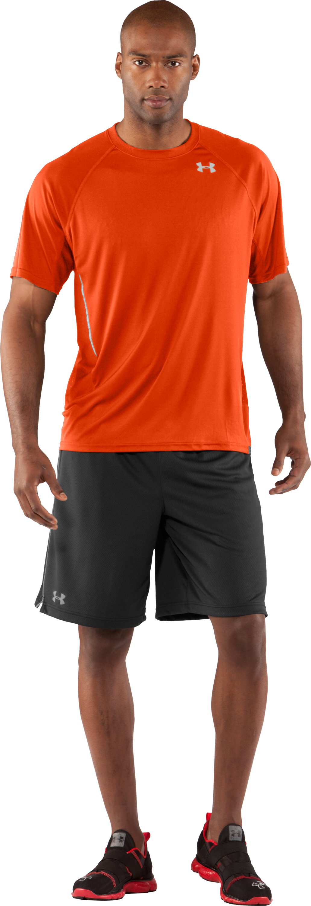 Men's Draft UA Catalyst Short Sleeve T-Shirt, Dark Orange, Front
