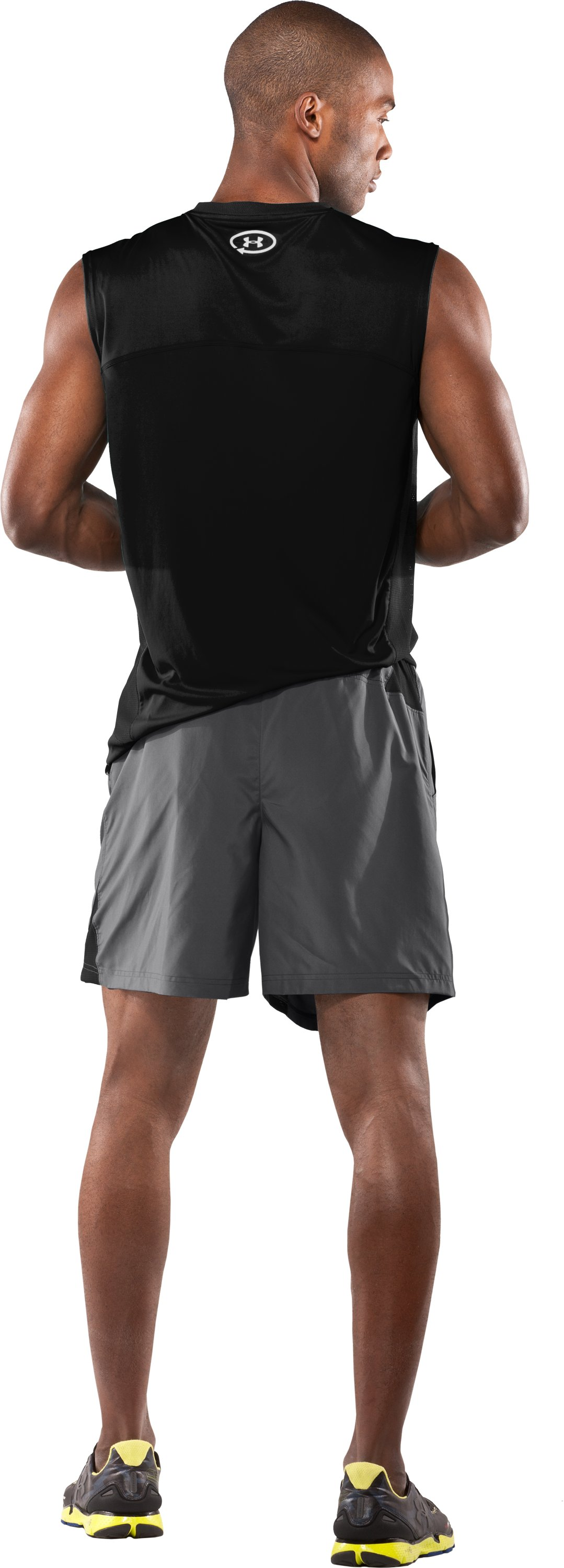 "Men's Draft UA Catalyst 7"" Shorts, Graphite, Back"