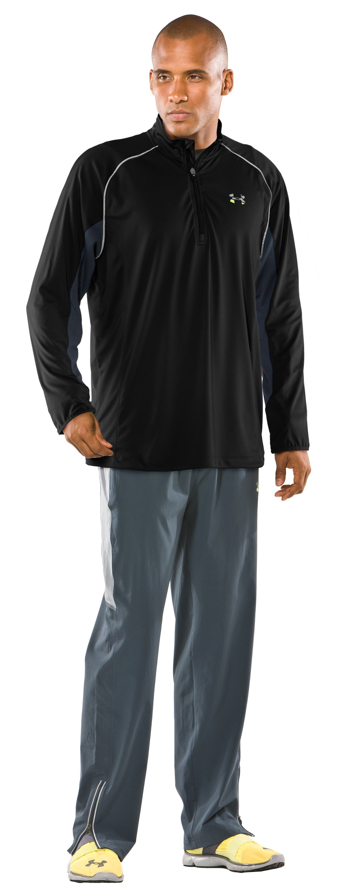 Men's UA Run ¼ Zip Jacket, Black , zoomed image