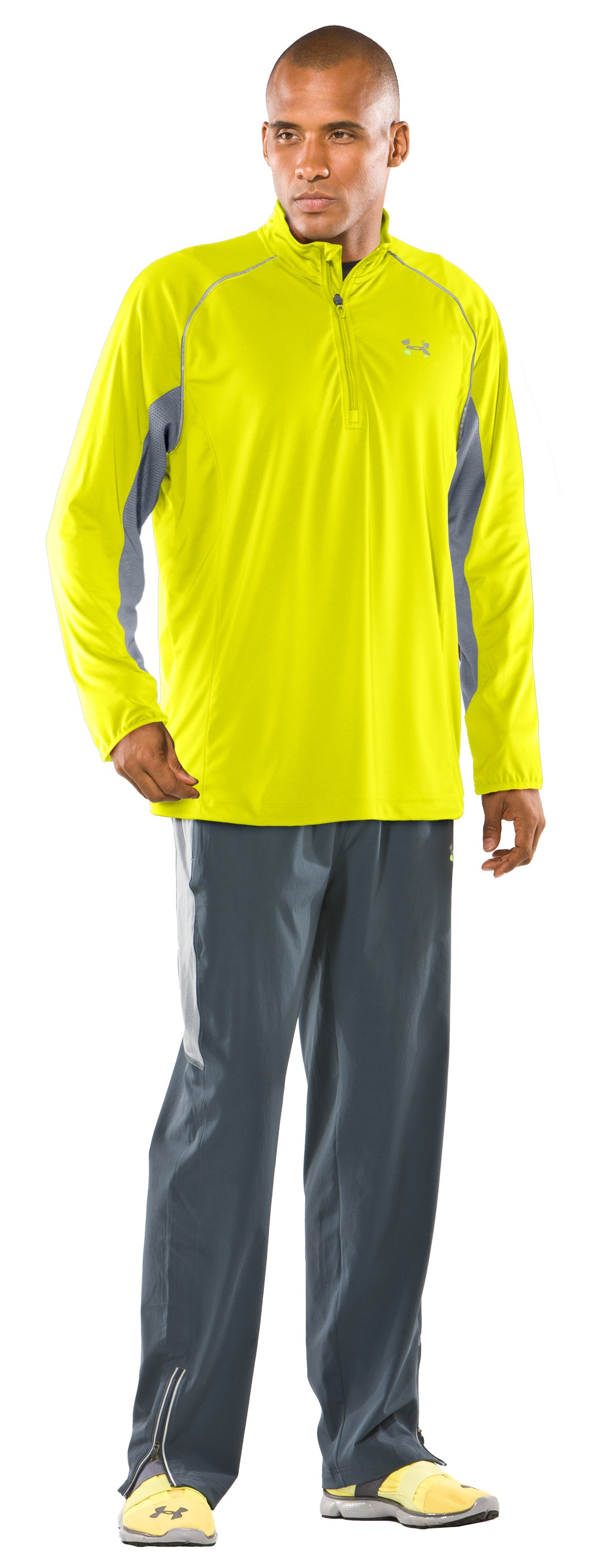 Men's UA Run ¼ Zip Jacket, High-Vis Yellow, Front
