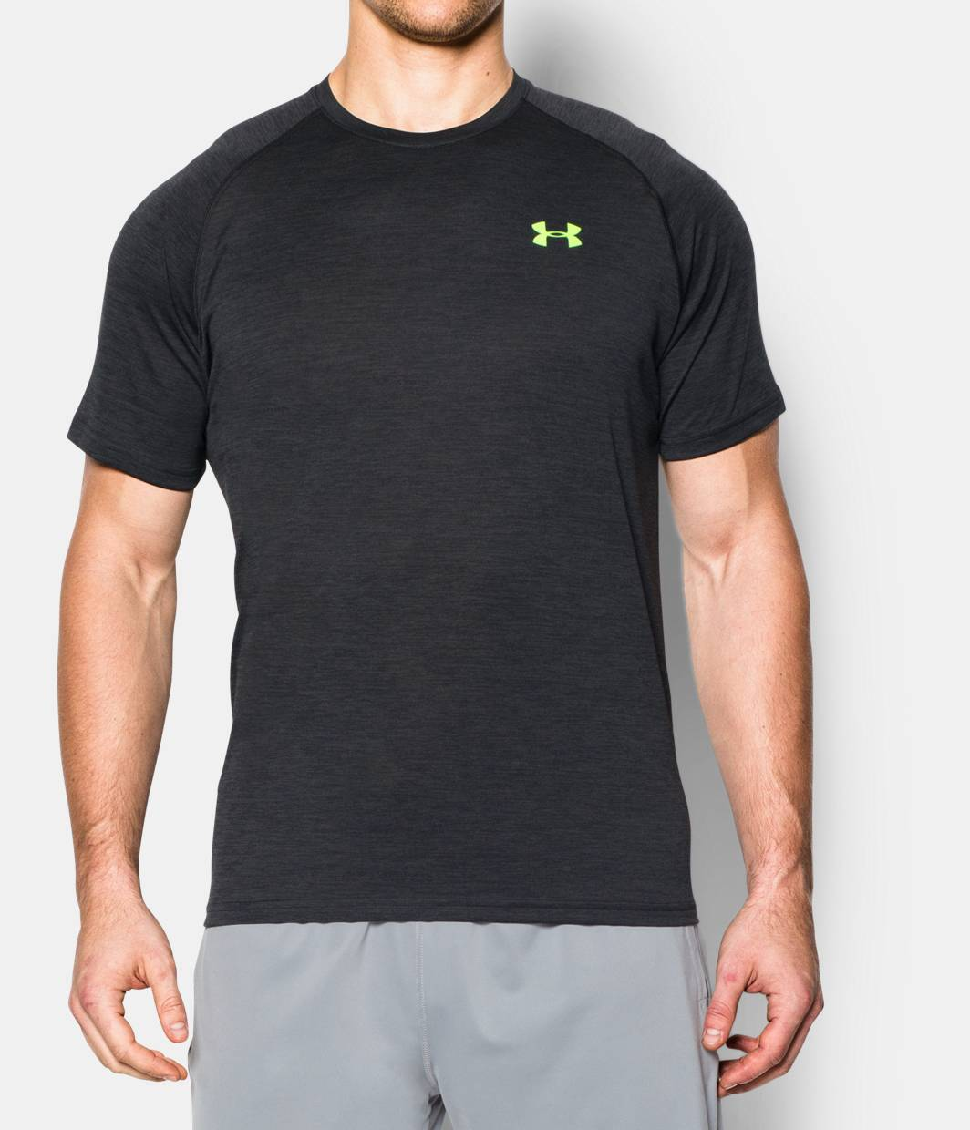 Men 39 s ua tech short sleeve t shirt under armour us for Under armour i will shirt