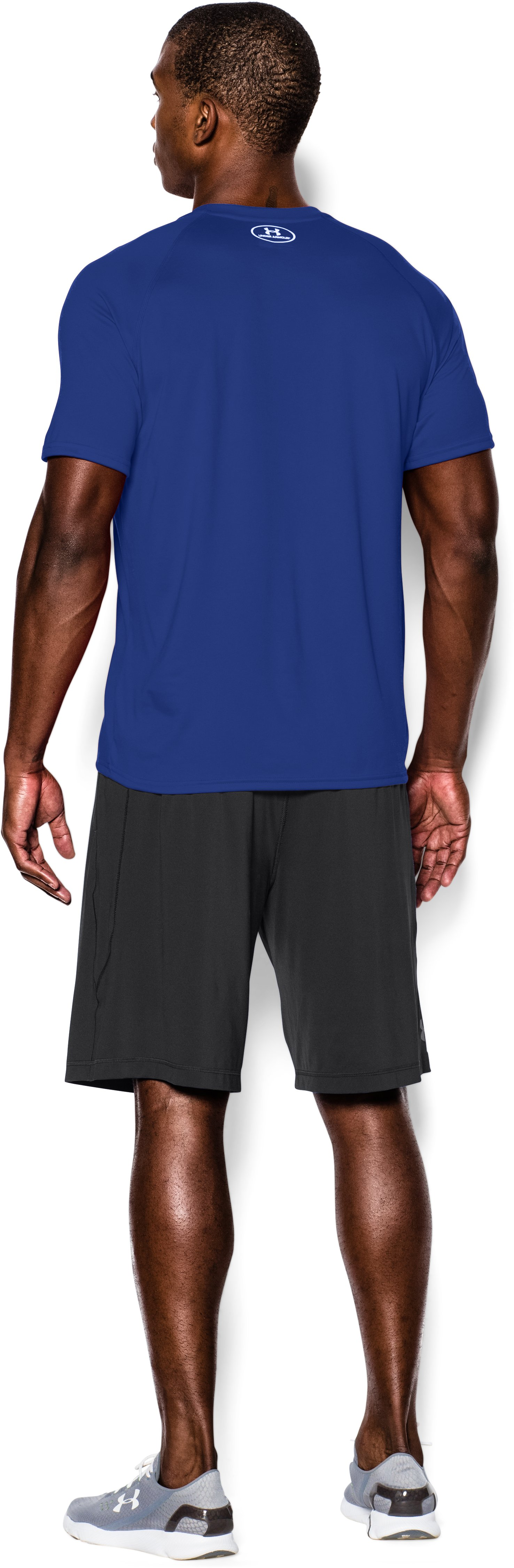 Men's UA Tech™ Short Sleeve T-Shirt, Royal, Back