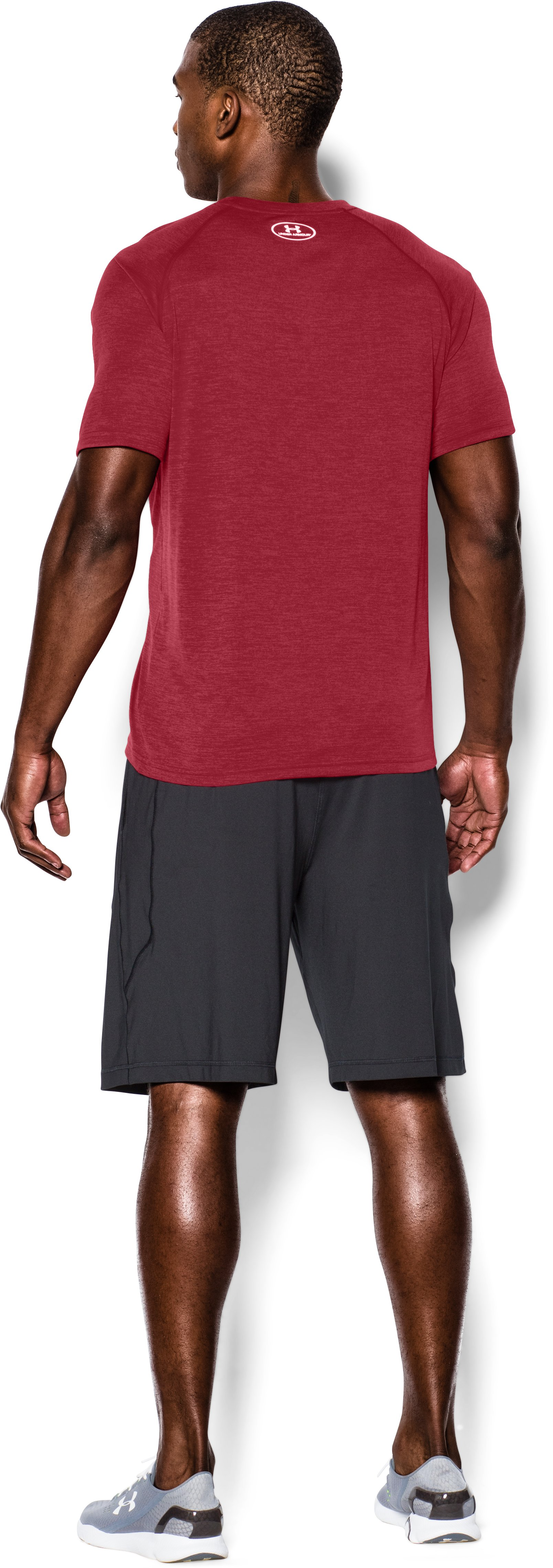 Men's UA Tech™ Short Sleeve T-Shirt, Crimson, Back