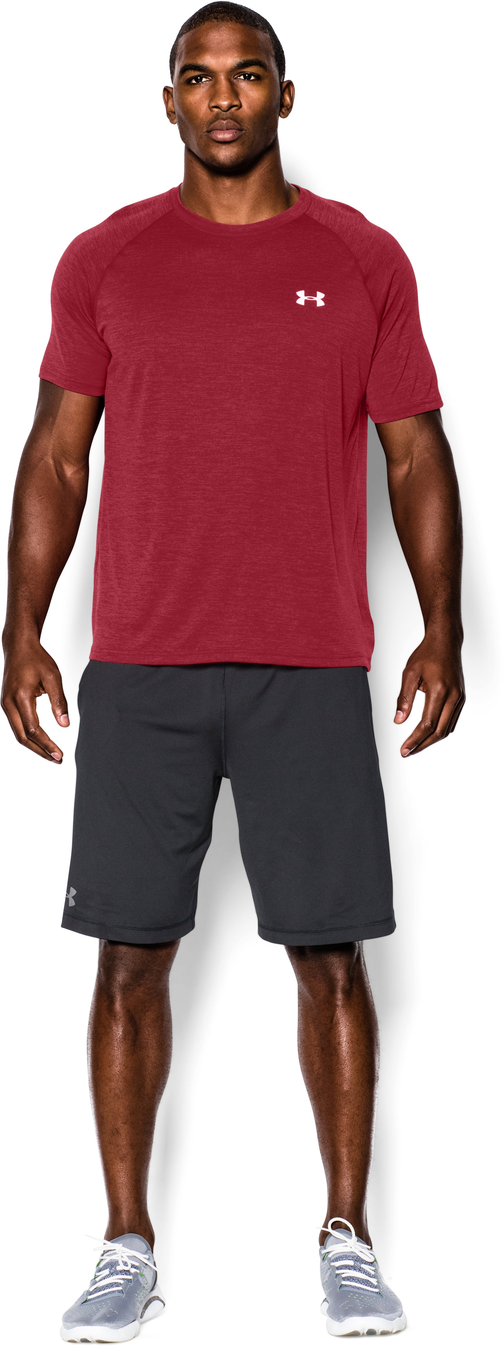 Men's UA Tech™ Short Sleeve T-Shirt, Crimson, Front