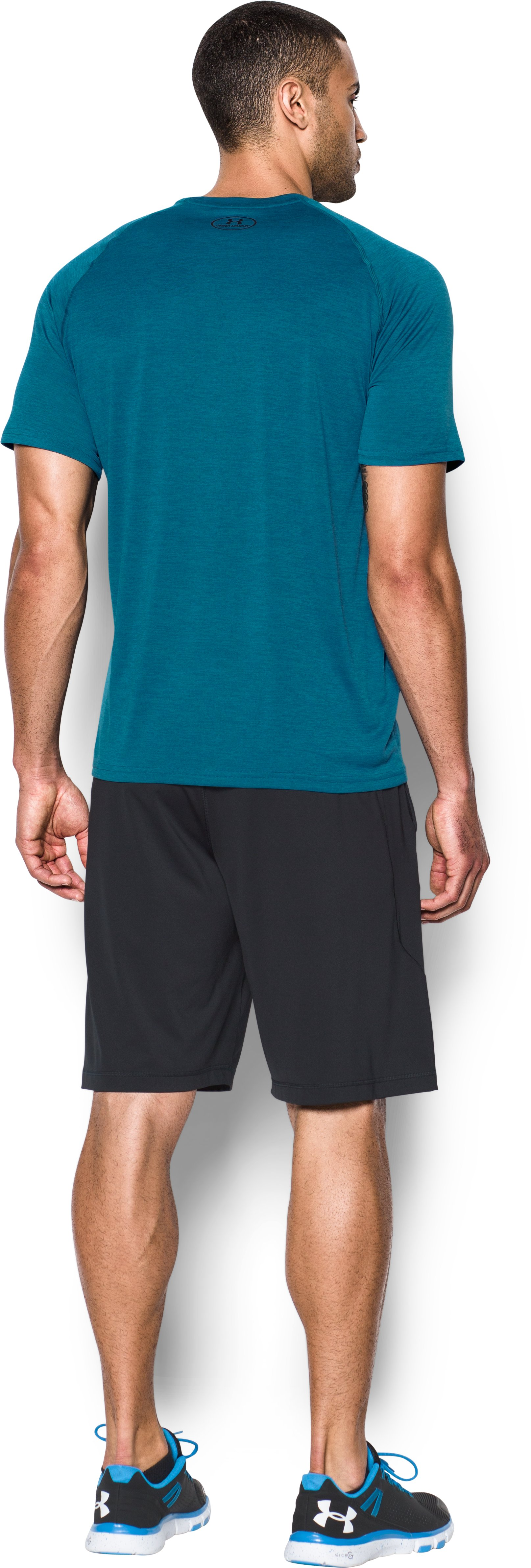 Men's UA Tech™ Short Sleeve T-Shirt, PEACOCK, Back