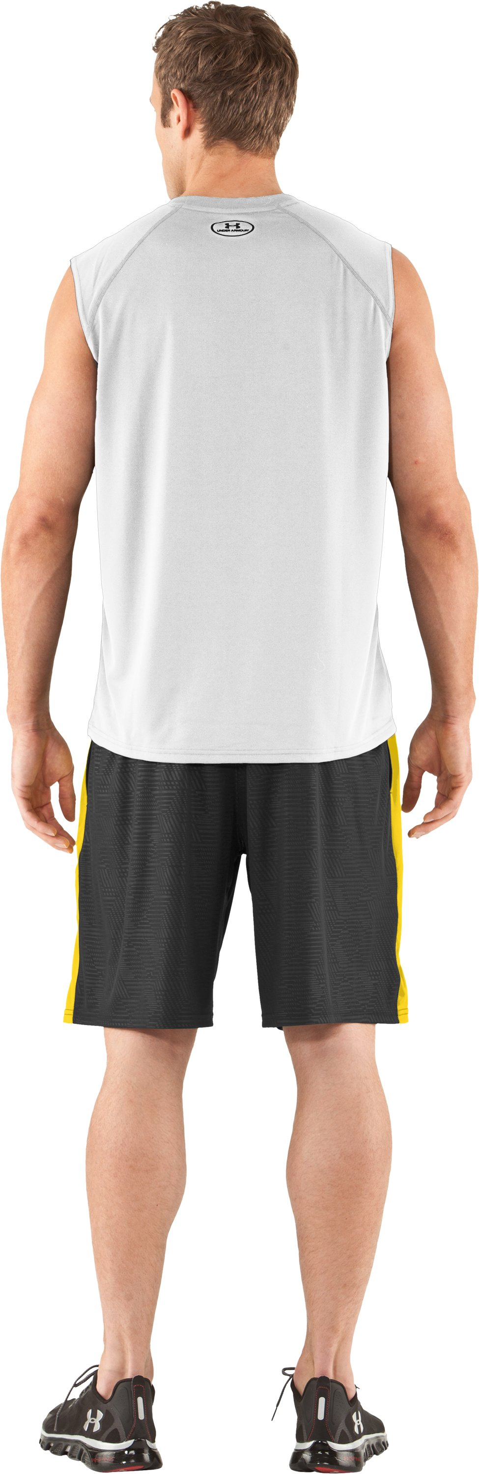 Men's UA Tech™ Sleeveless T-Shirt, White, Back