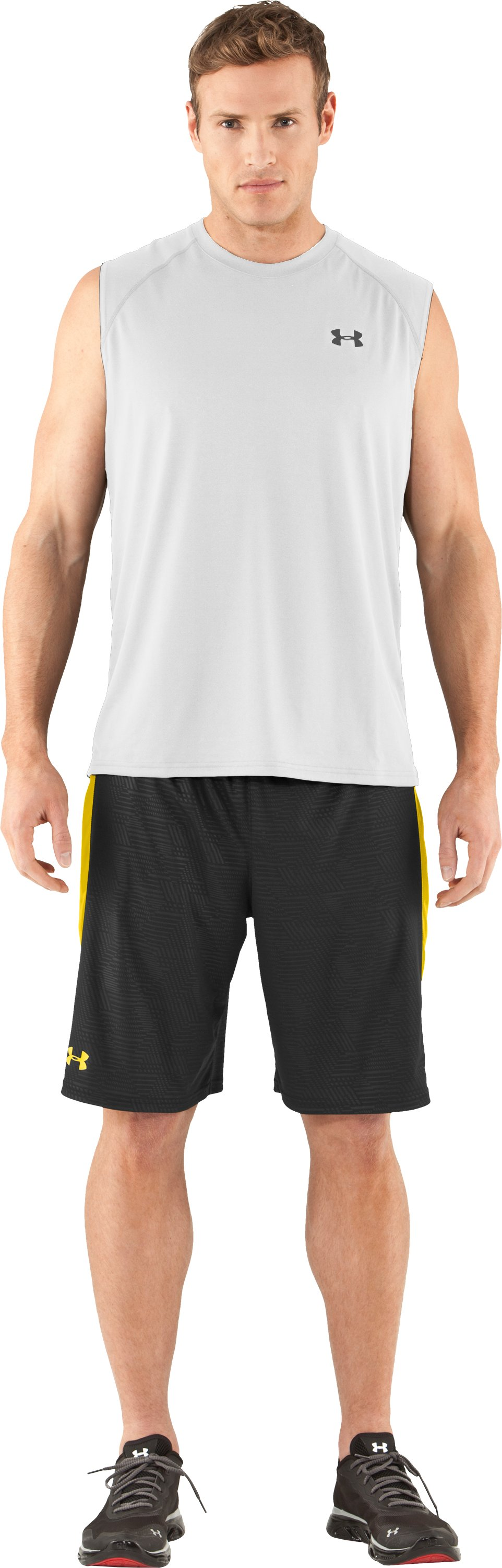 Men's UA Tech™ Sleeveless T-Shirt, White, zoomed image