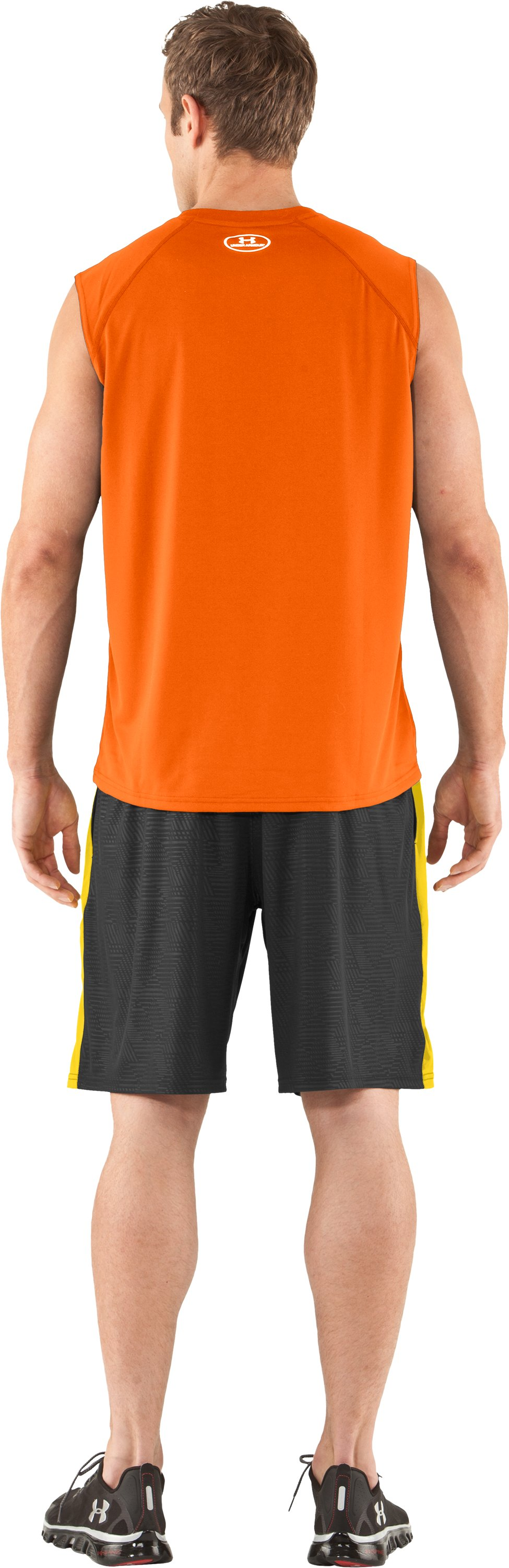Men's UA Tech™ Sleeveless T-Shirt, Vivid, Back