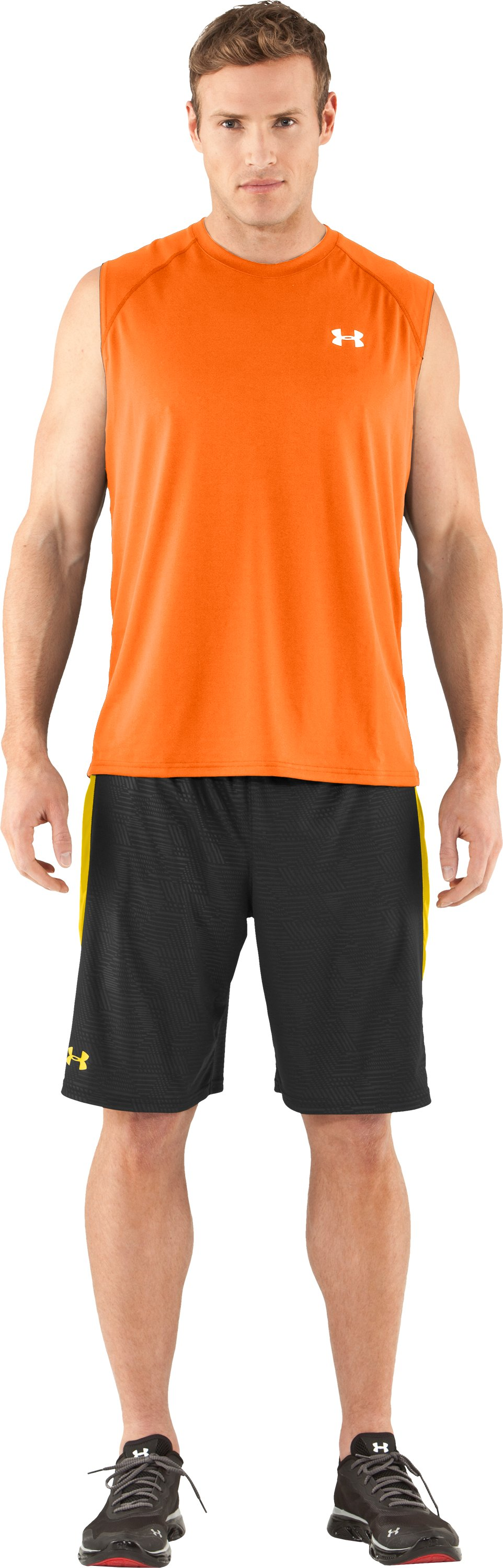 Men's UA Tech™ Sleeveless T-Shirt, Vivid, Front