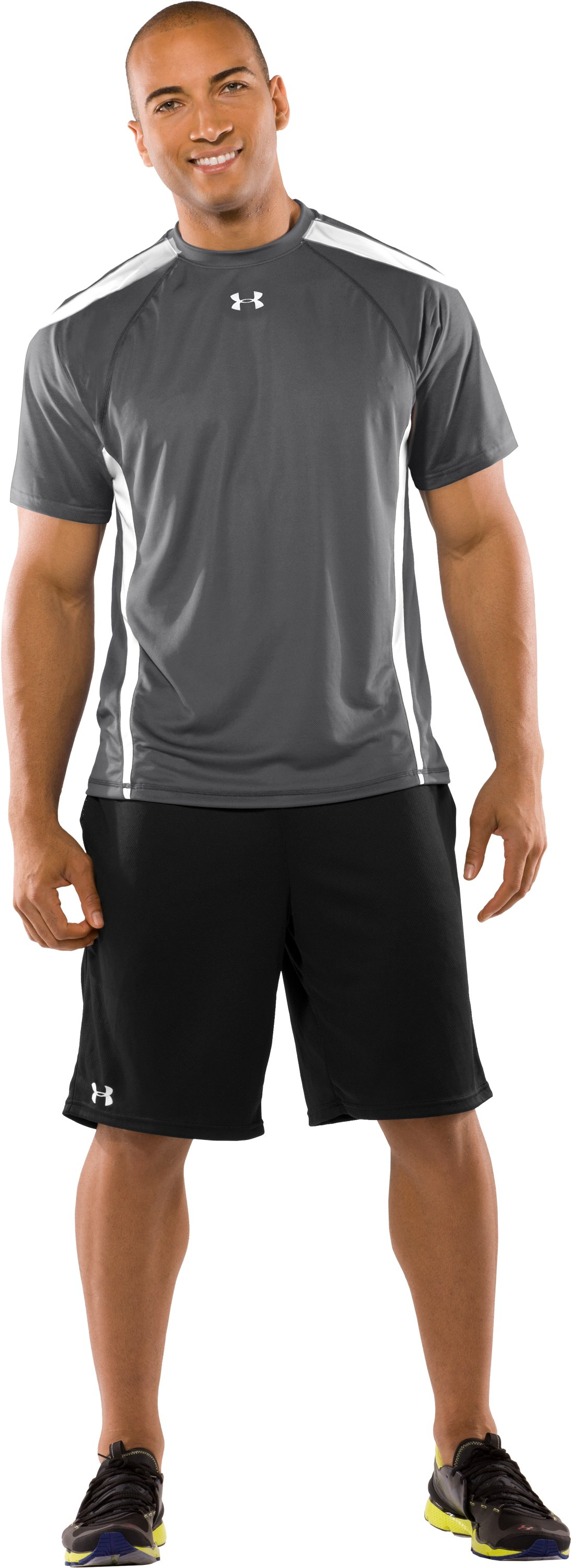 Men's UA Zone VI T-Shirt, Graphite, Front