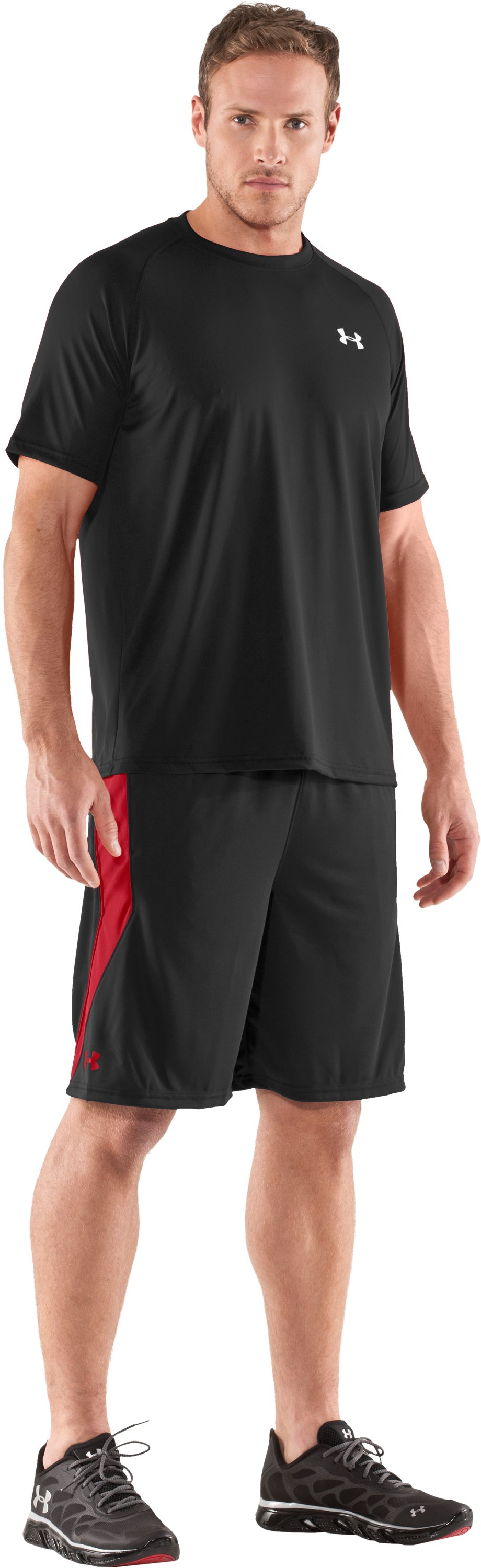 "Men's UA Multiplier 10"" Shorts, Black , Front"