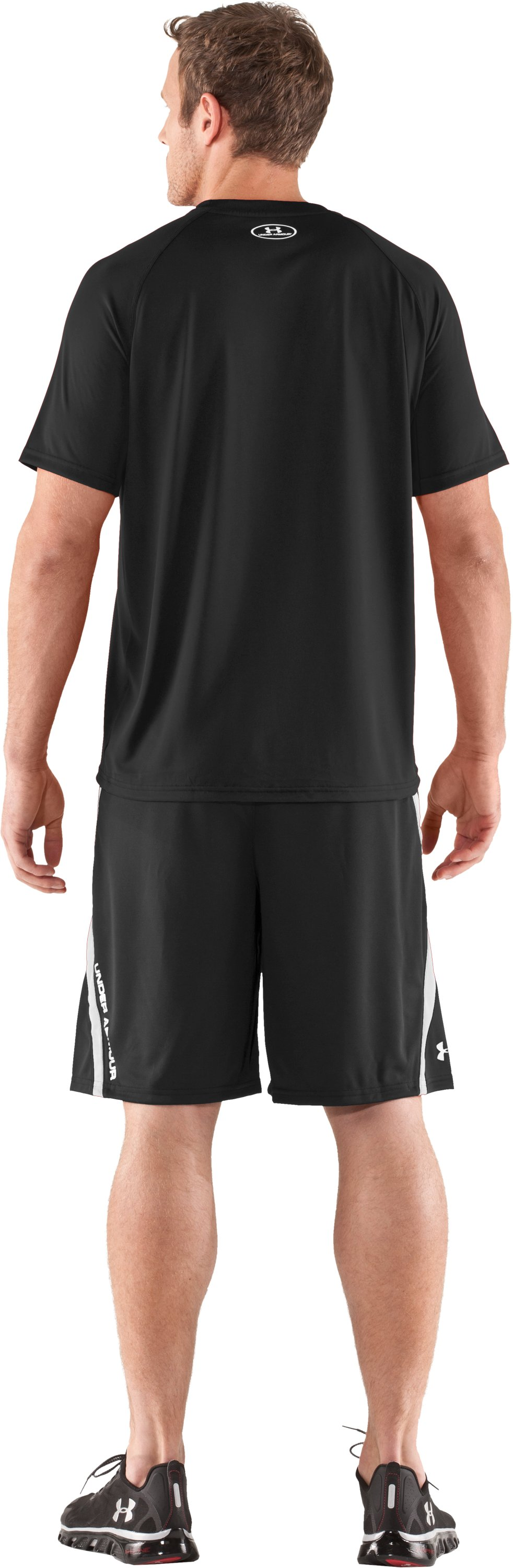 "Men's UA Multiplier 10"" Shorts, Black , Back"