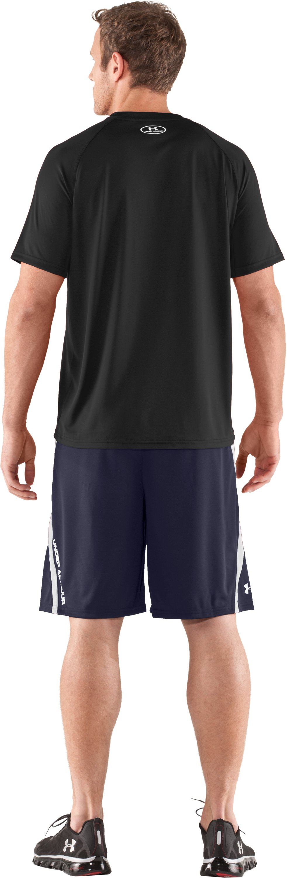 "Men's UA Multiplier 10"" Shorts, Midnight Navy, Back"