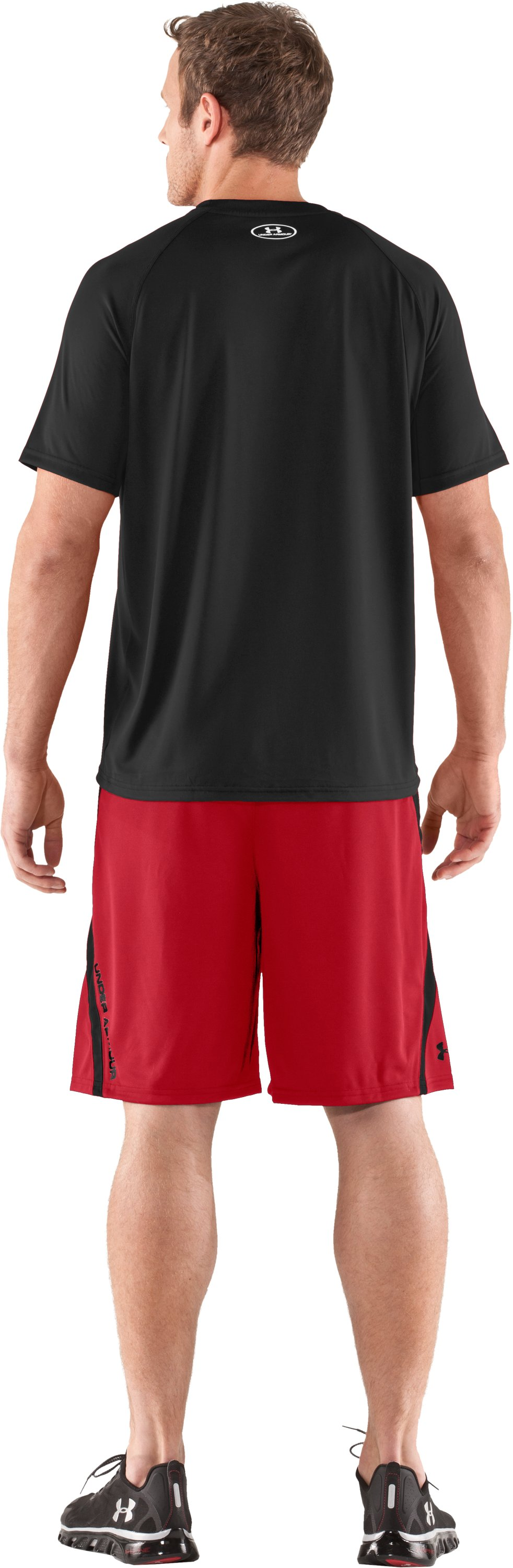 "Men's UA Multiplier 10"" Shorts, Red, Back"