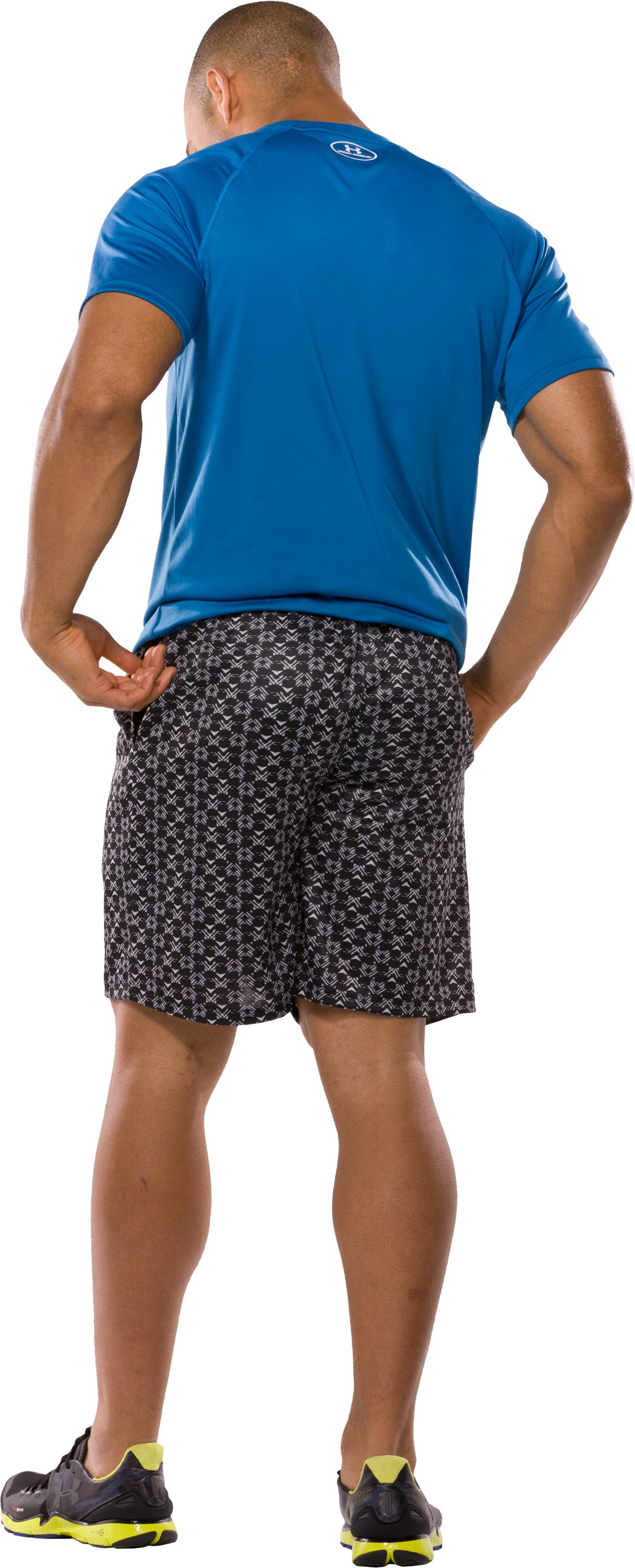 "Men's UA Flex Printed 10"" Shorts, Black , Back"