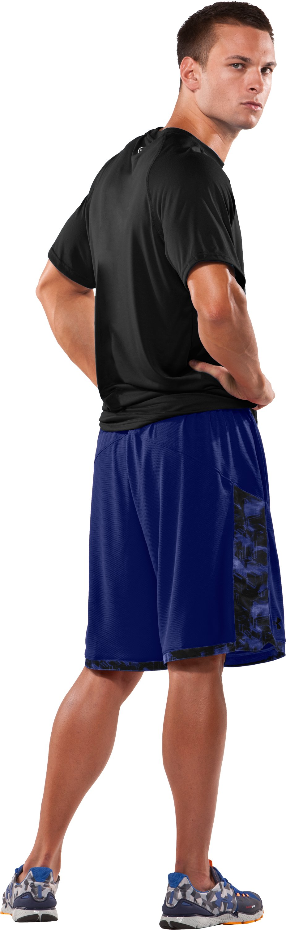 "Men's UA Showprint 10"" Shorts, Bauhaus Blue, Back"