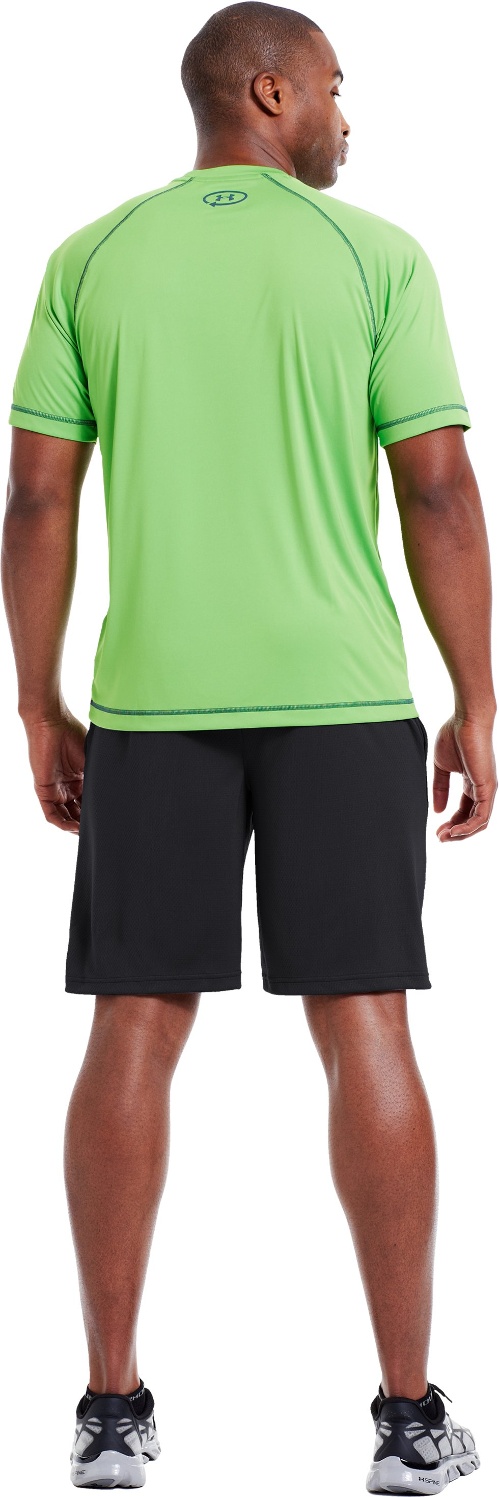 Men's UA Catalyst Shorts, Black , Back
