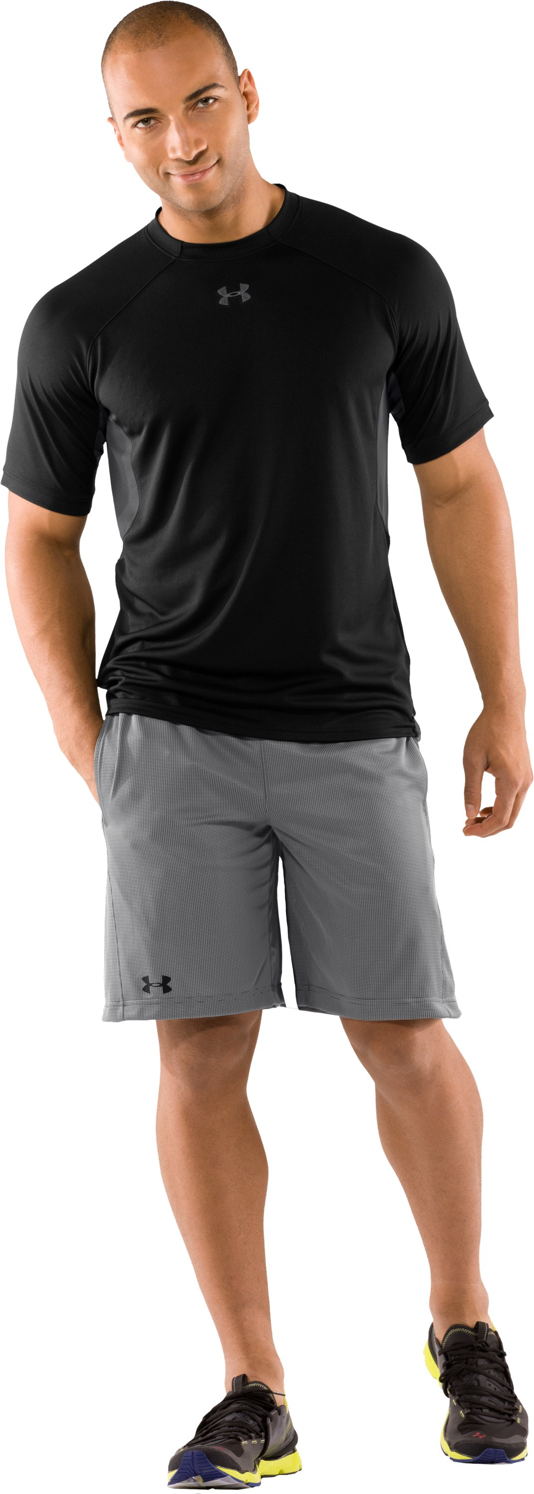 Men's UA Catalyst Plus Shorts, Graphite, Front