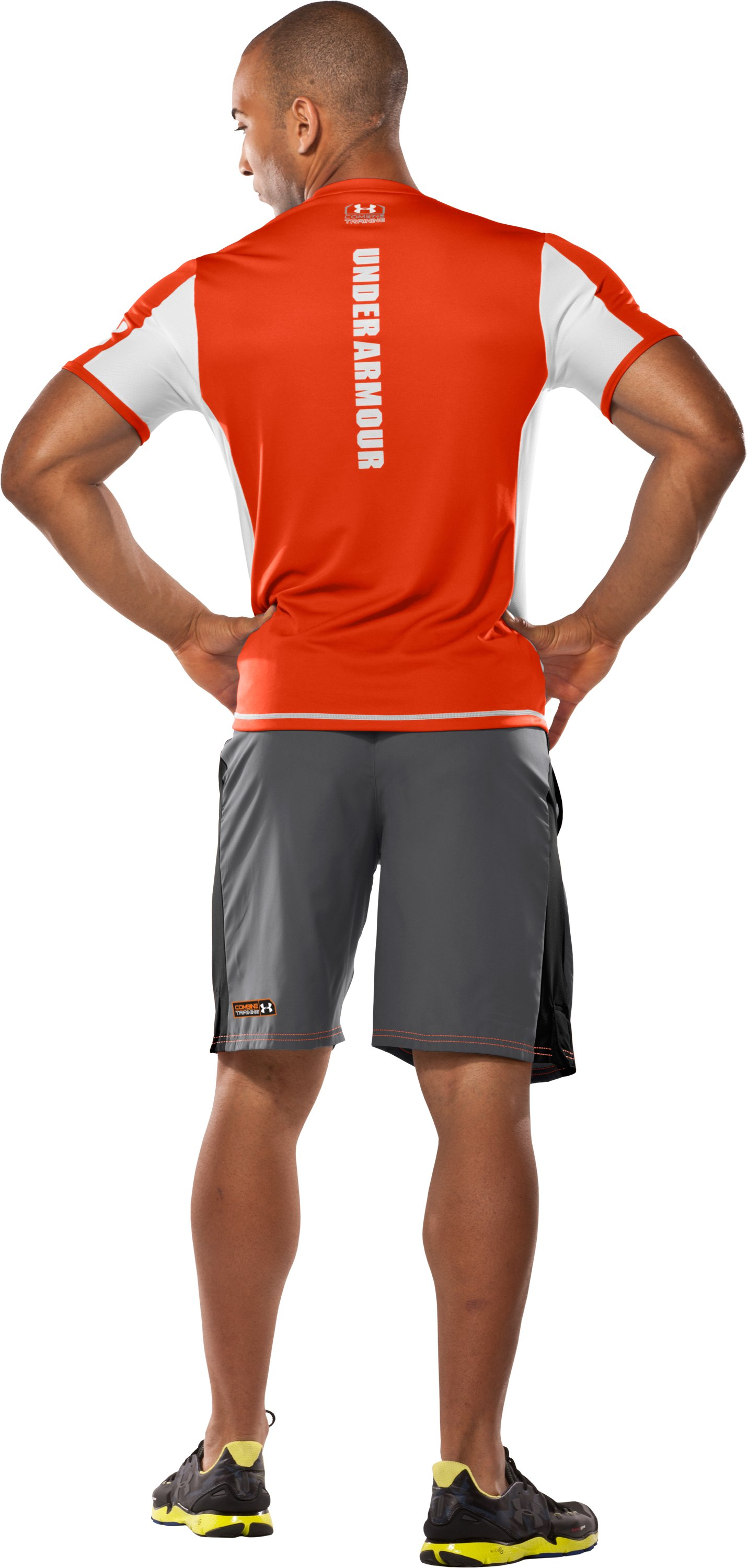 Men's UA Combine™ Training Shorts, Graphite, Back
