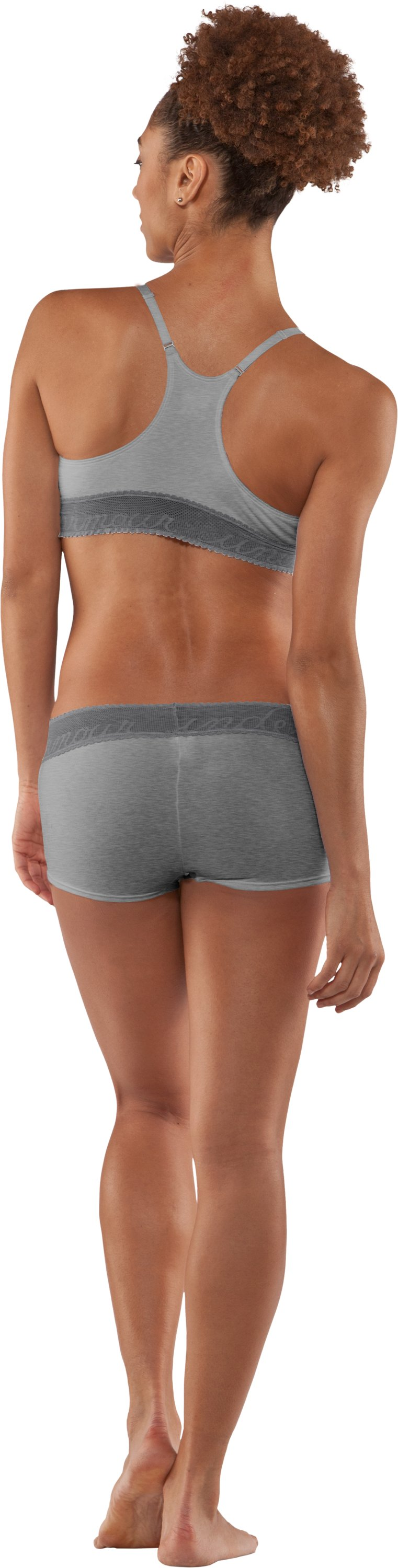 Women's UA Essential Boyshort, Black , Back