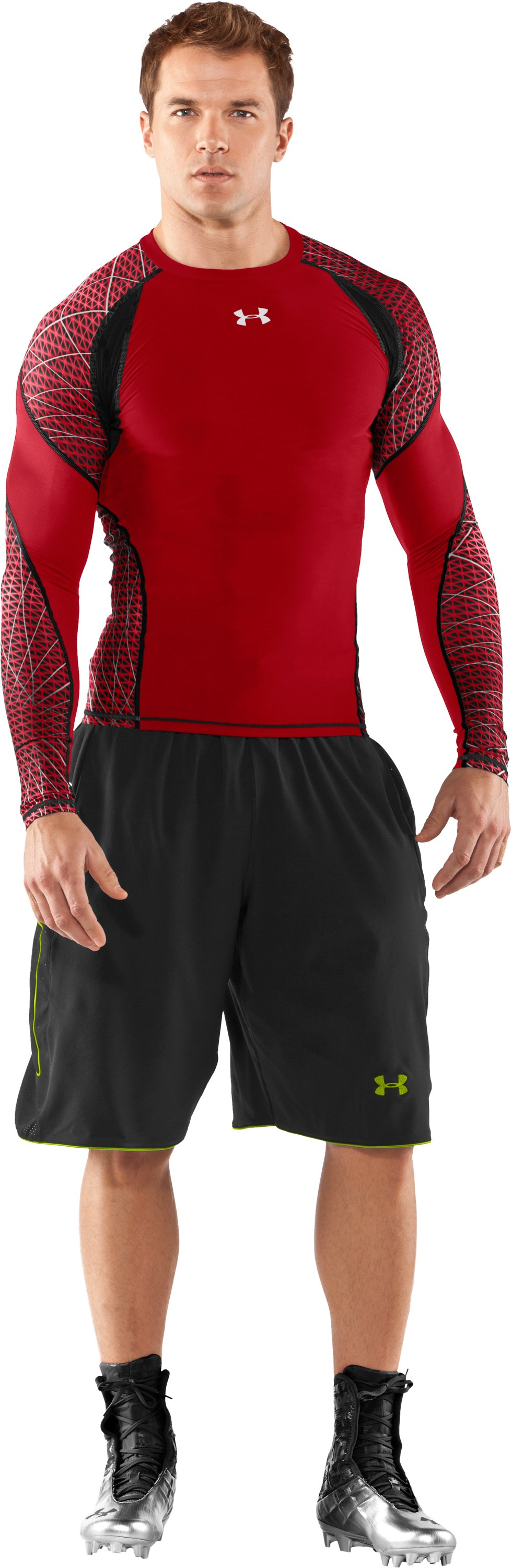 Men's UA Warp Speed Long Sleeve Shirt, Red, zoomed image