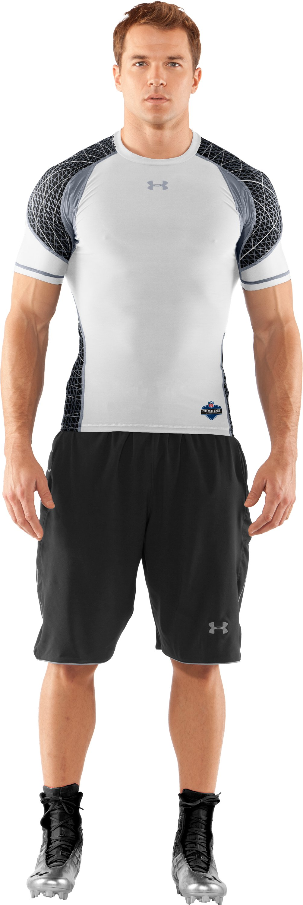 Men's NFL Combine Authentic Warp Speed Short Sleeve, White, zoomed image