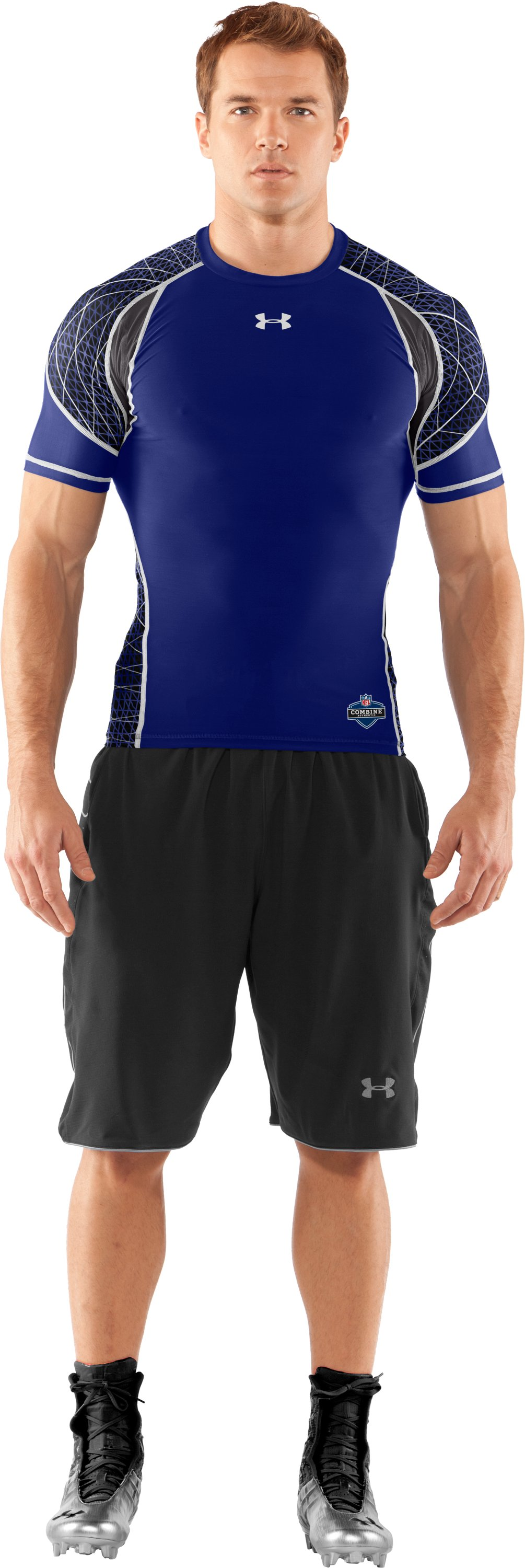 Men's NFL Combine Authentic Warp Speed Short Sleeve, Royal, Front