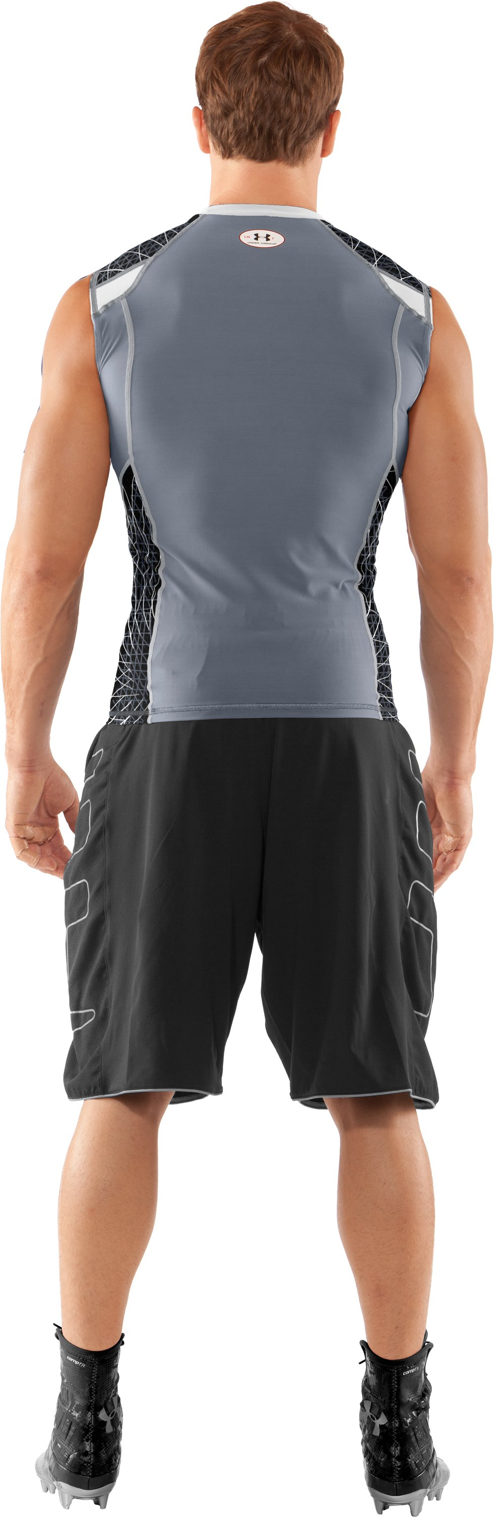 Men's UA Warp Speed Sleeveless Shirt, White, Back