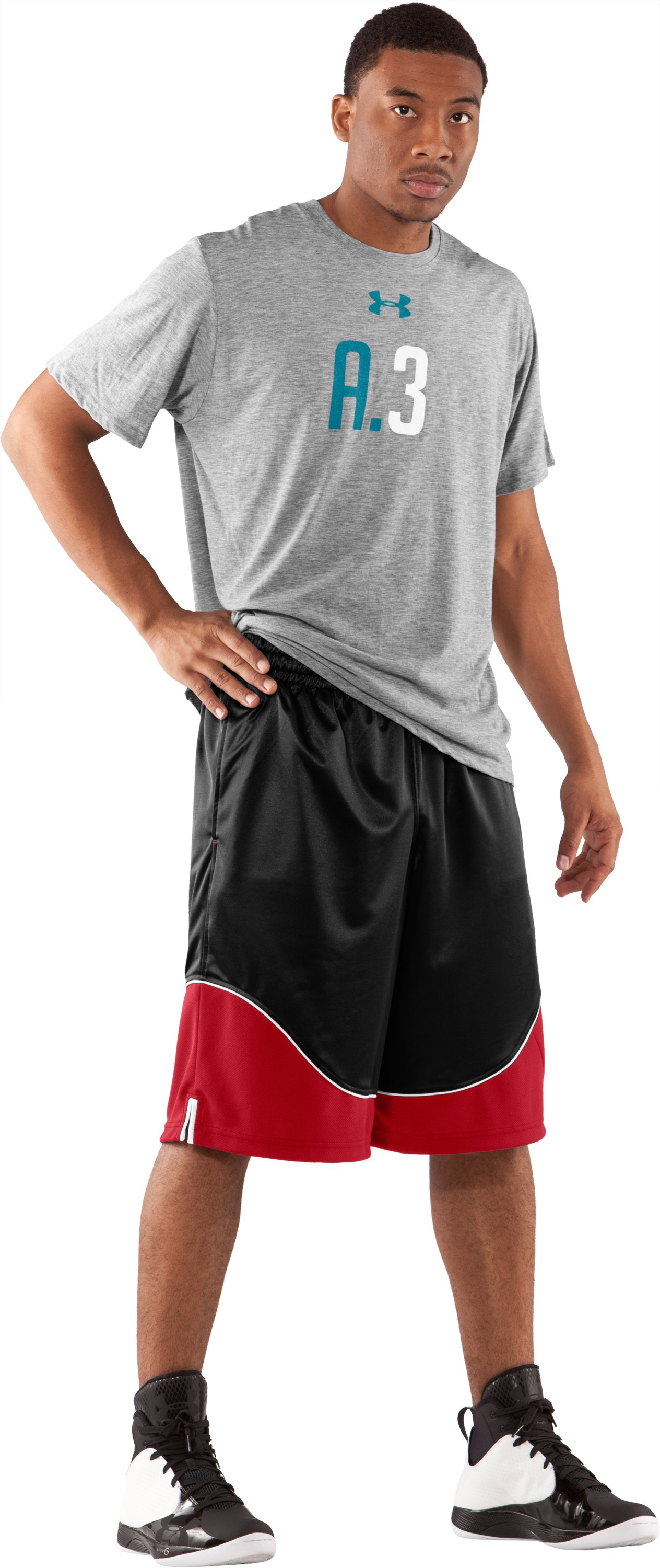 "Men's UA Nonstop 12"" Basketball Shorts, Black , Front"