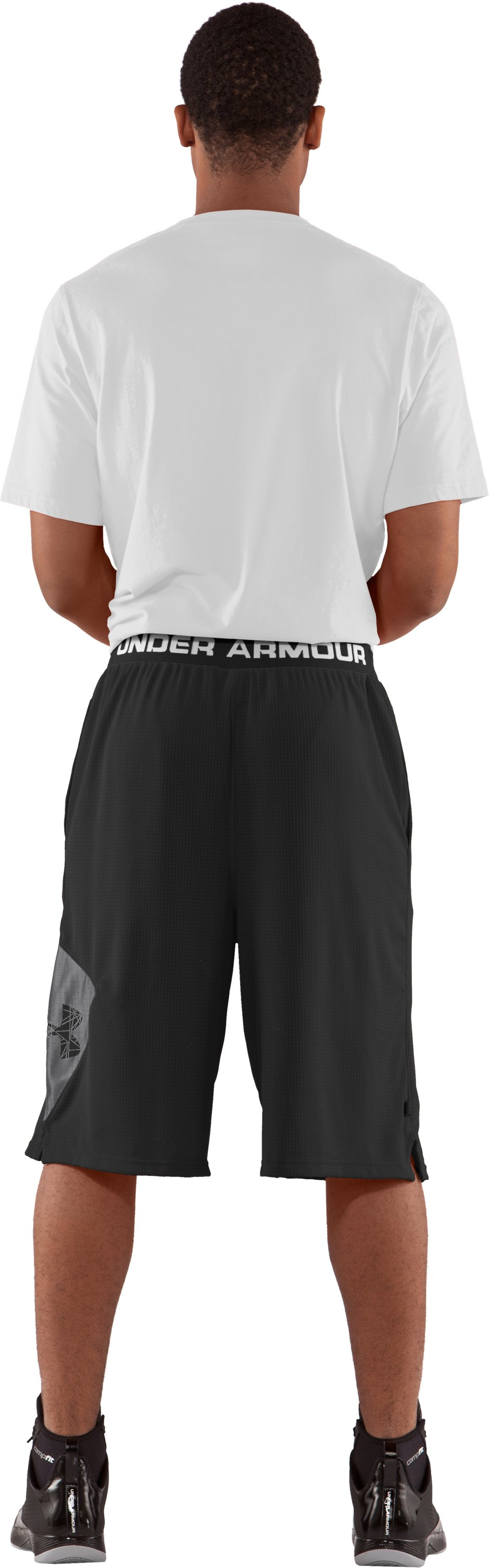 "Men's UA Floor General 12"" Basketball Shorts, Black , Back"