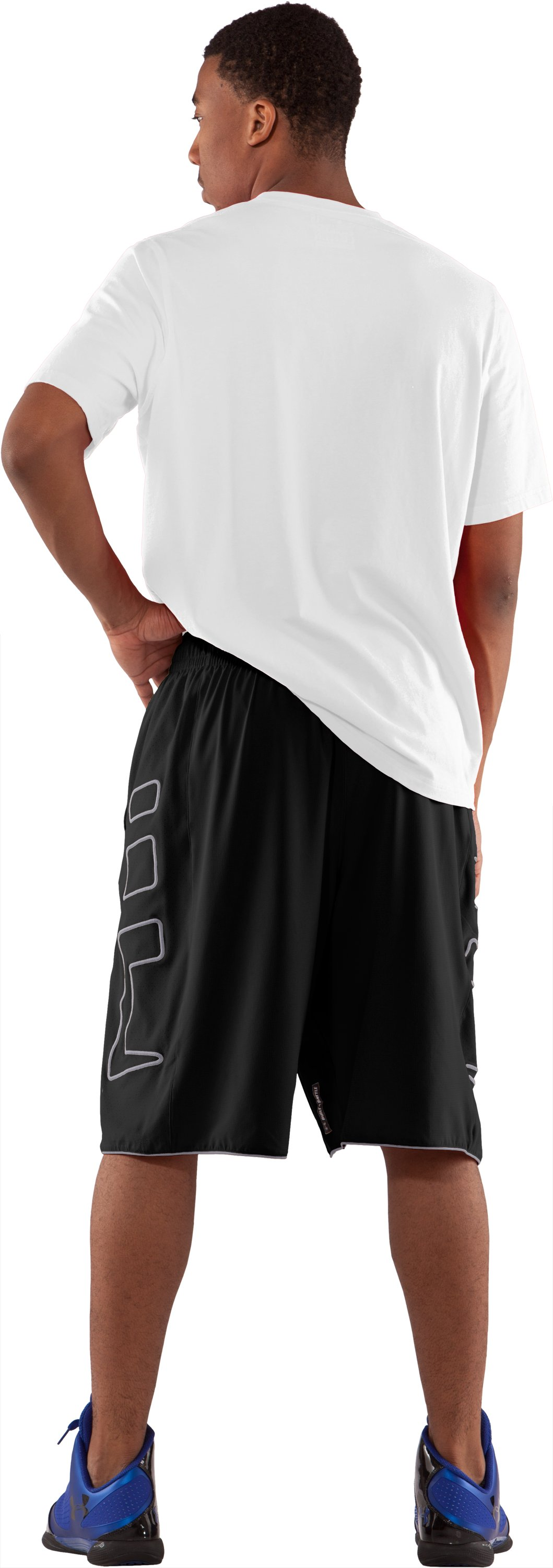 "Men's UA Built4Battle 12"" Basketball Shorts, Black , Back"