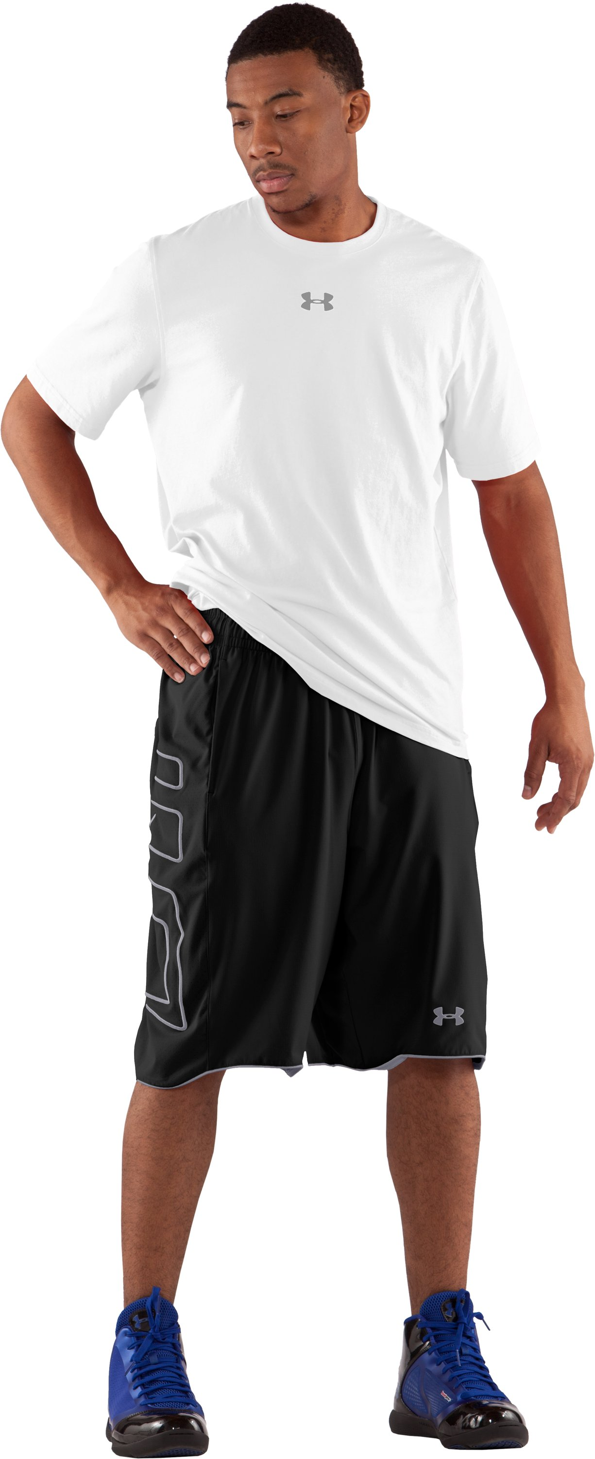 "Men's UA Built4Battle 12"" Basketball Shorts, Black , Front"