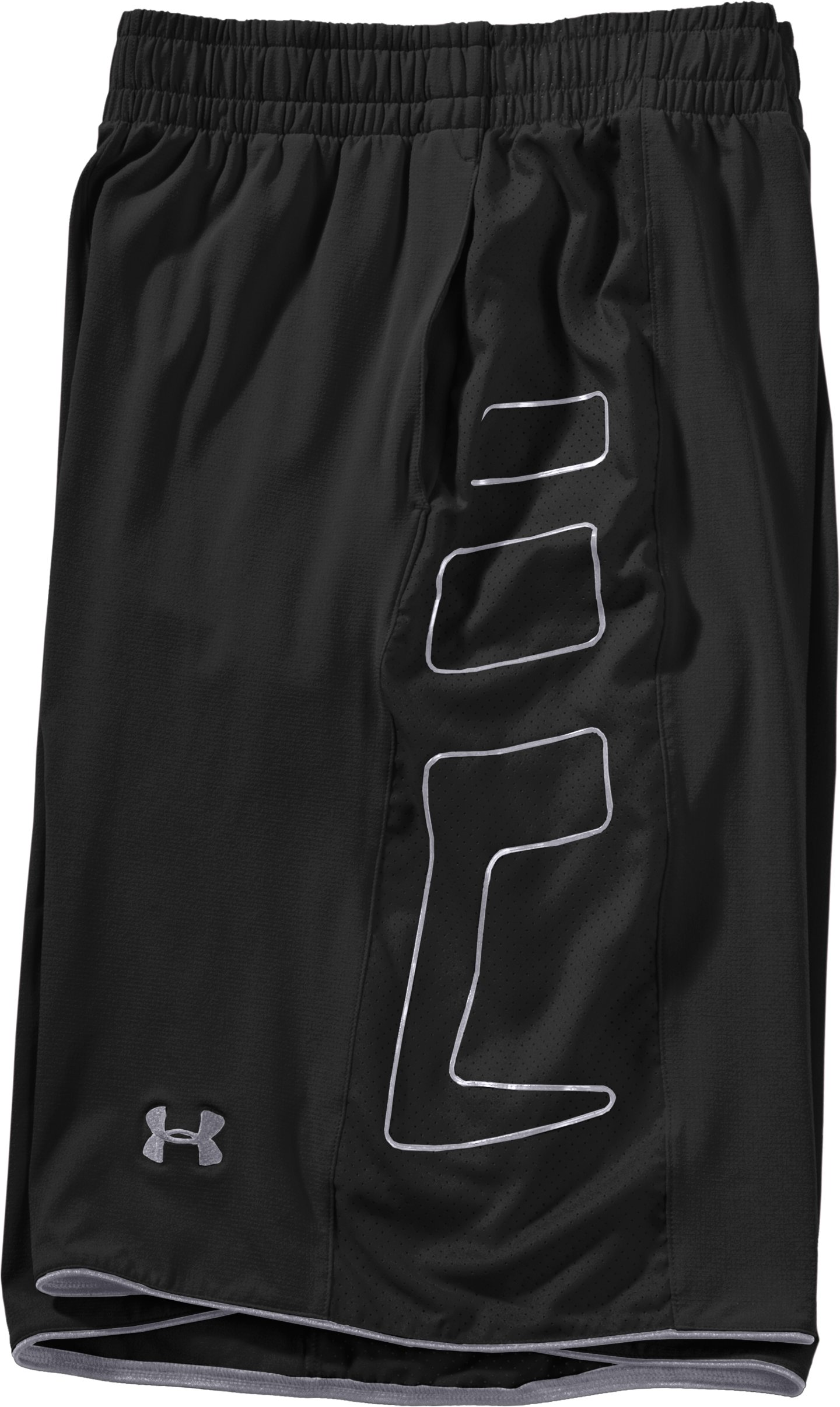 "Men's UA Built4Battle 12"" Basketball Shorts, Black , Laydown"