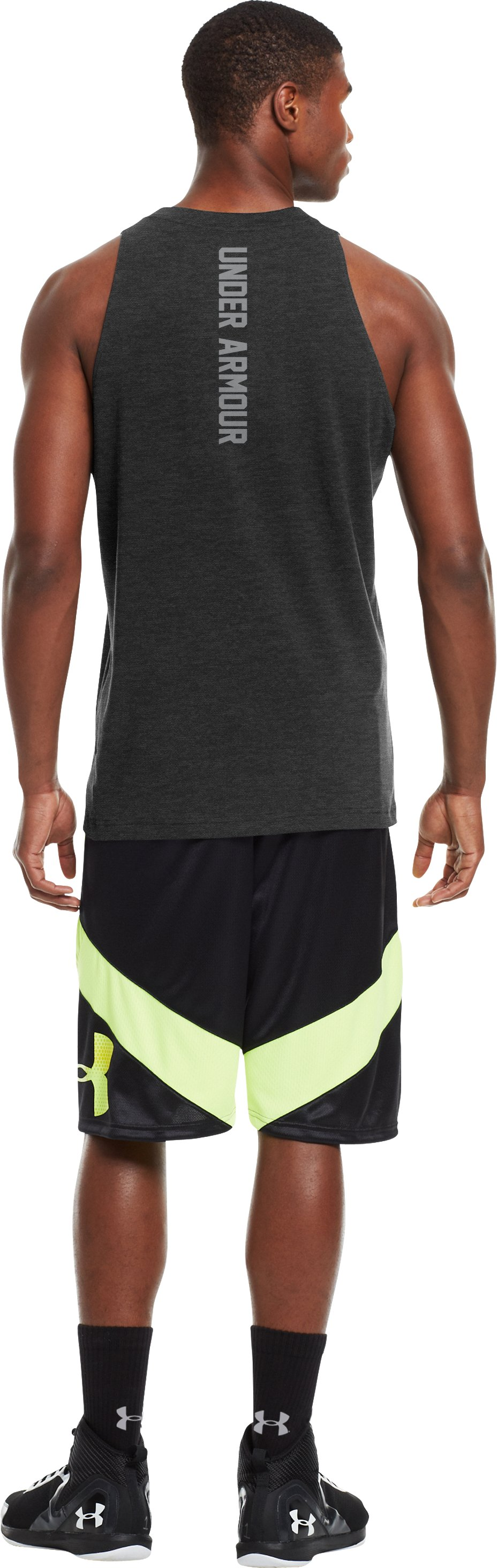 Men's Charged Cotton® Tank, Carbon Heather, Back