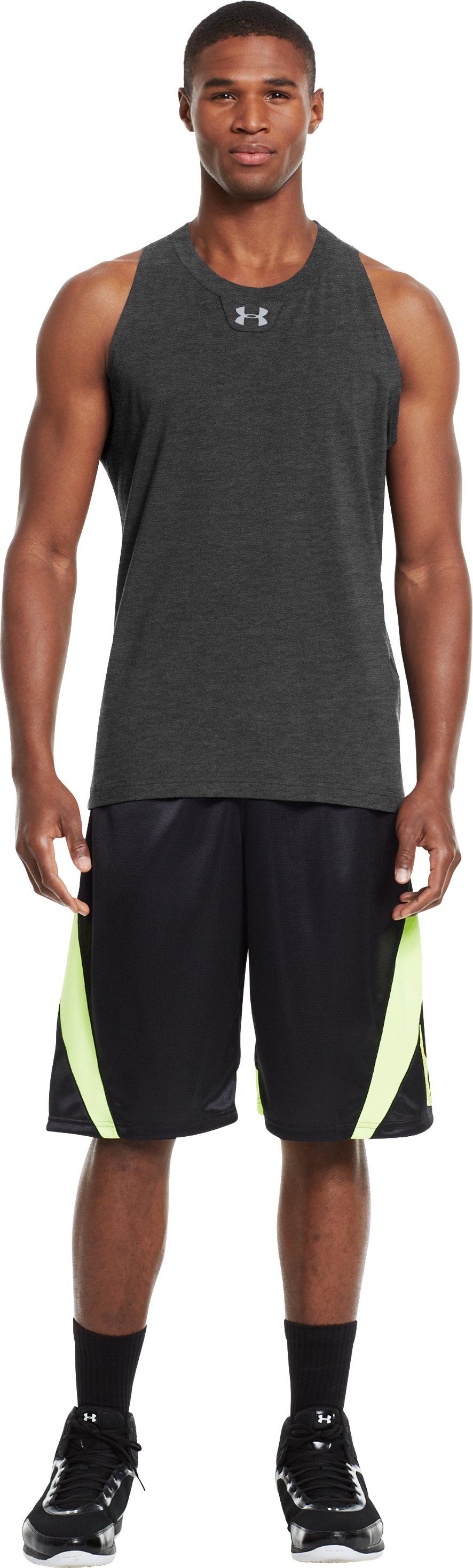 Men's Charged Cotton® Tank, Carbon Heather, zoomed image