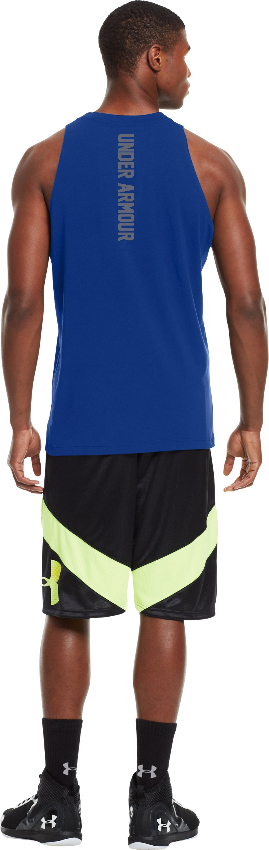 Men's Charged Cotton® Tank, Royal, Back