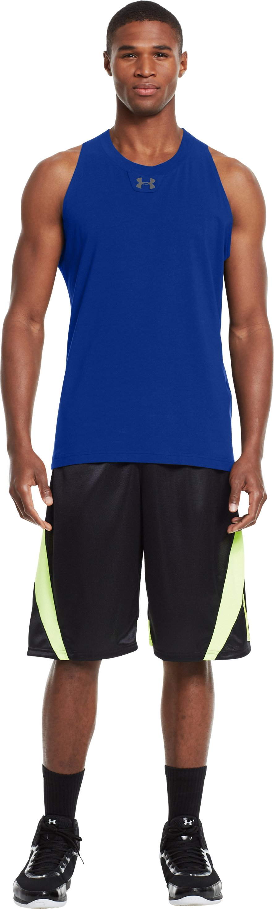 Men's Charged Cotton® Tank, Royal, Front