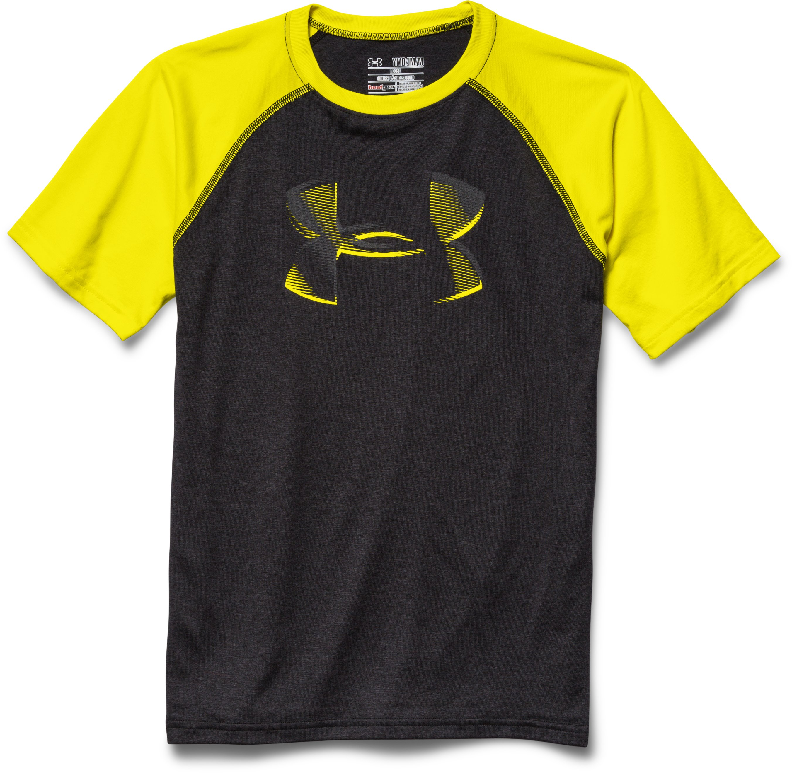 Boy's UA Tech™ Big Logo T-Shirt, Asphalt Heather, Laydown