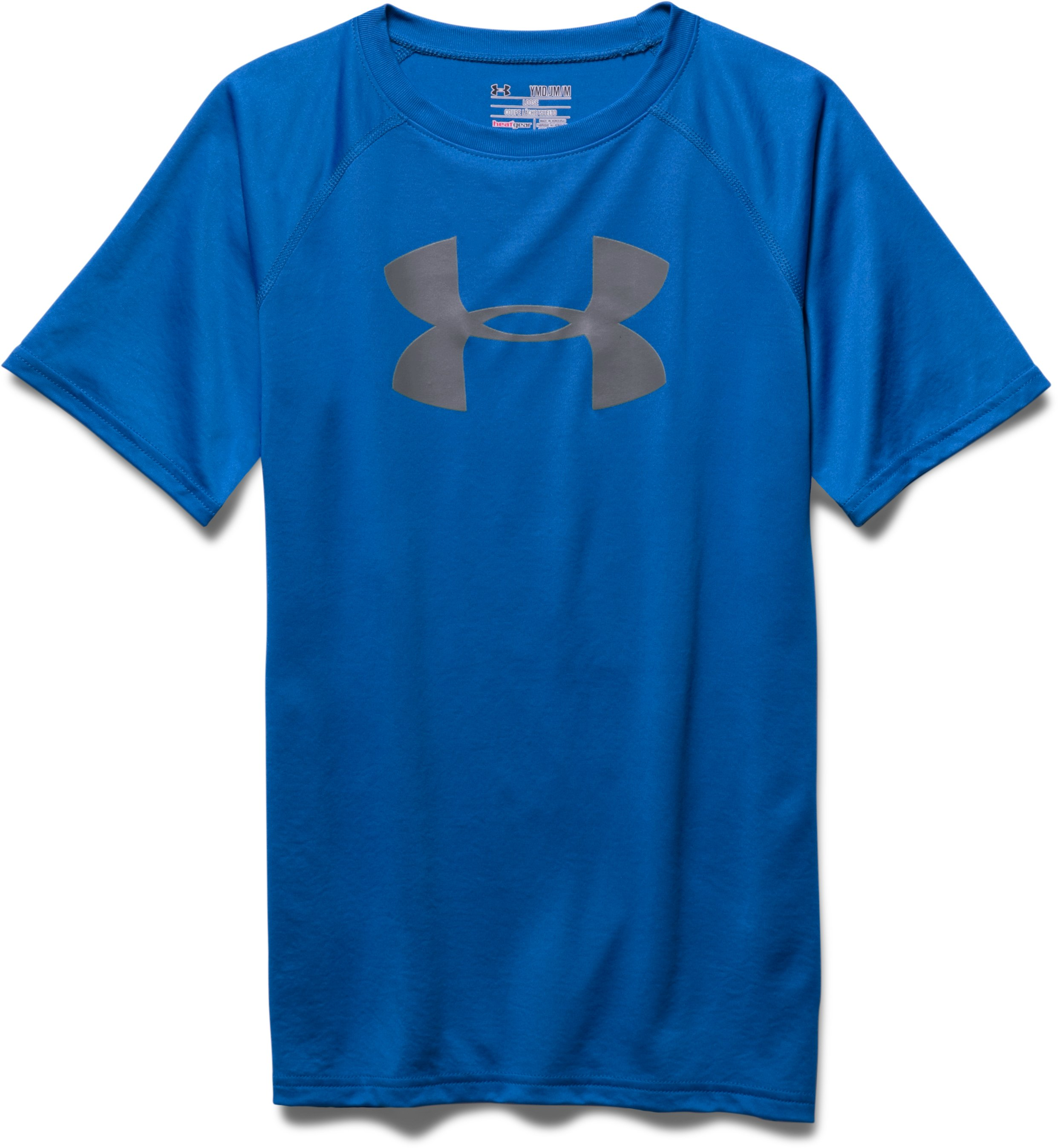 Boy's UA Tech™ Big Logo T-Shirt, ULTRA BLUE, Laydown