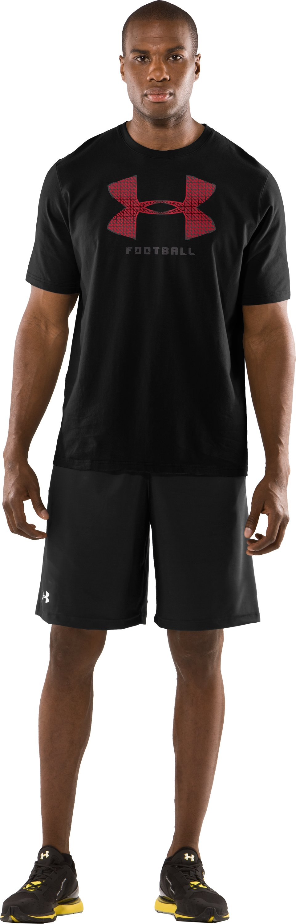Men's UA Warp Short Sleeve Graphic T-Shirt, Black , zoomed image