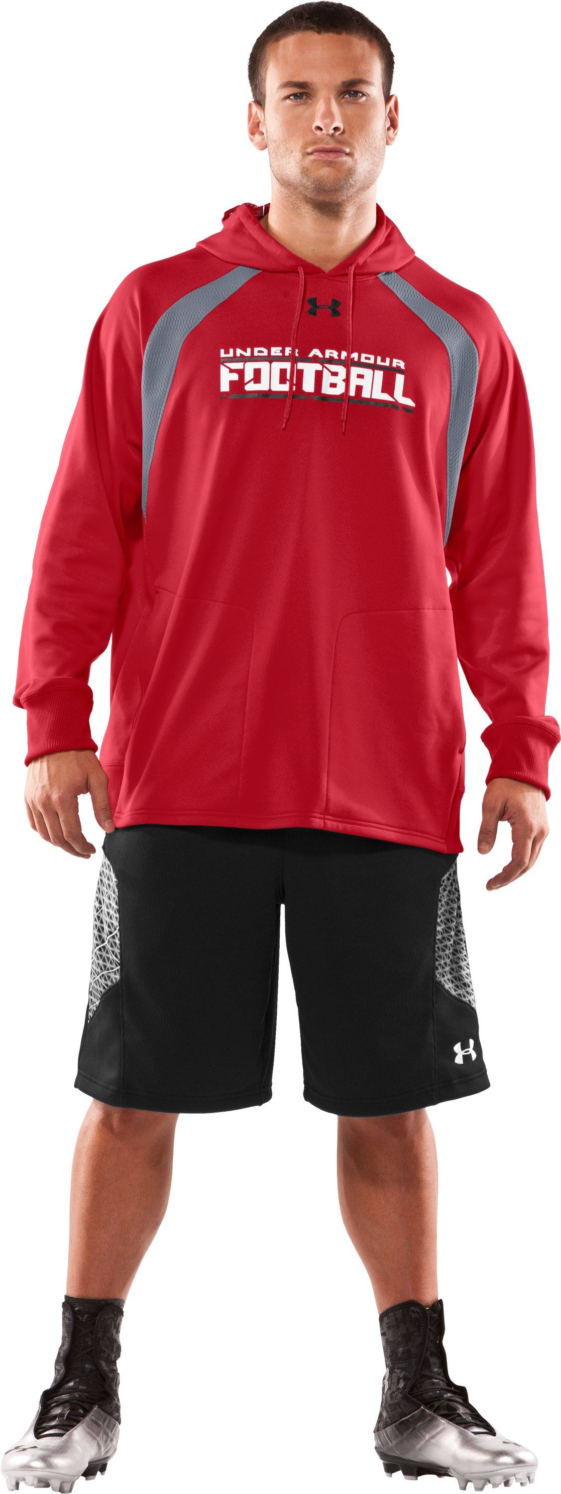 Men's UA Warp Hoodie, Red, zoomed image