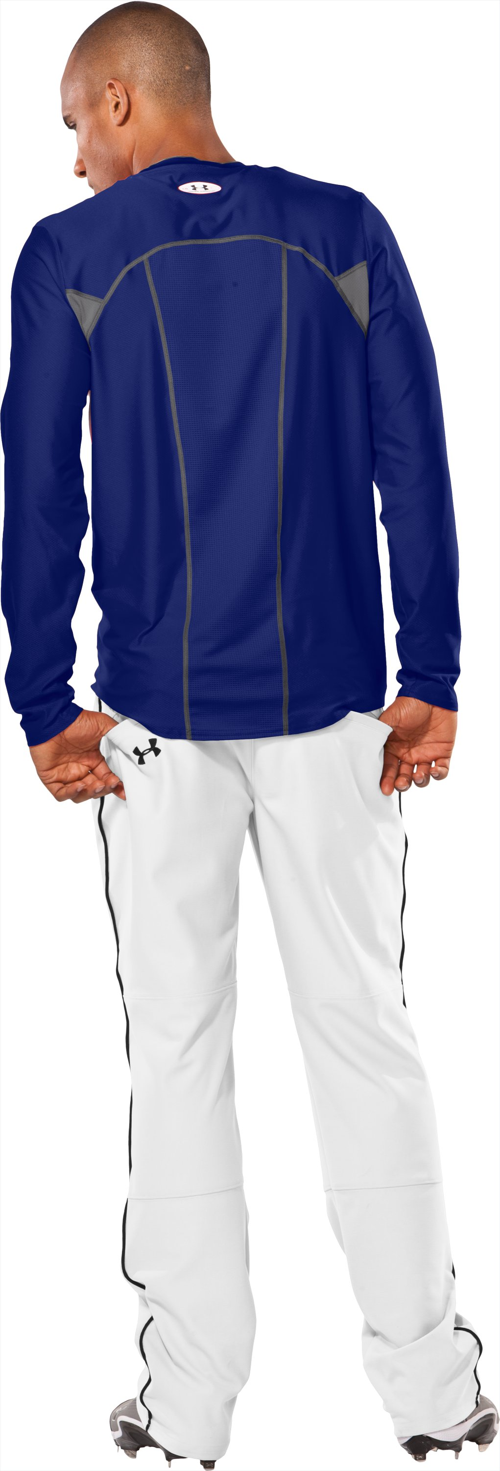 Men's Baseball Gameday Long Sleeve Shirt, Royal, Back