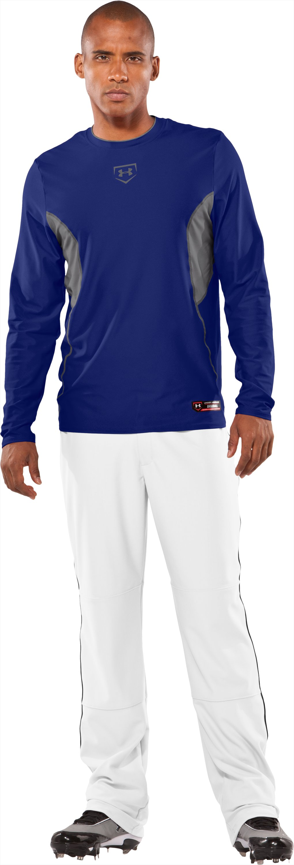 Men's Baseball Gameday Long Sleeve Shirt, Royal, Front