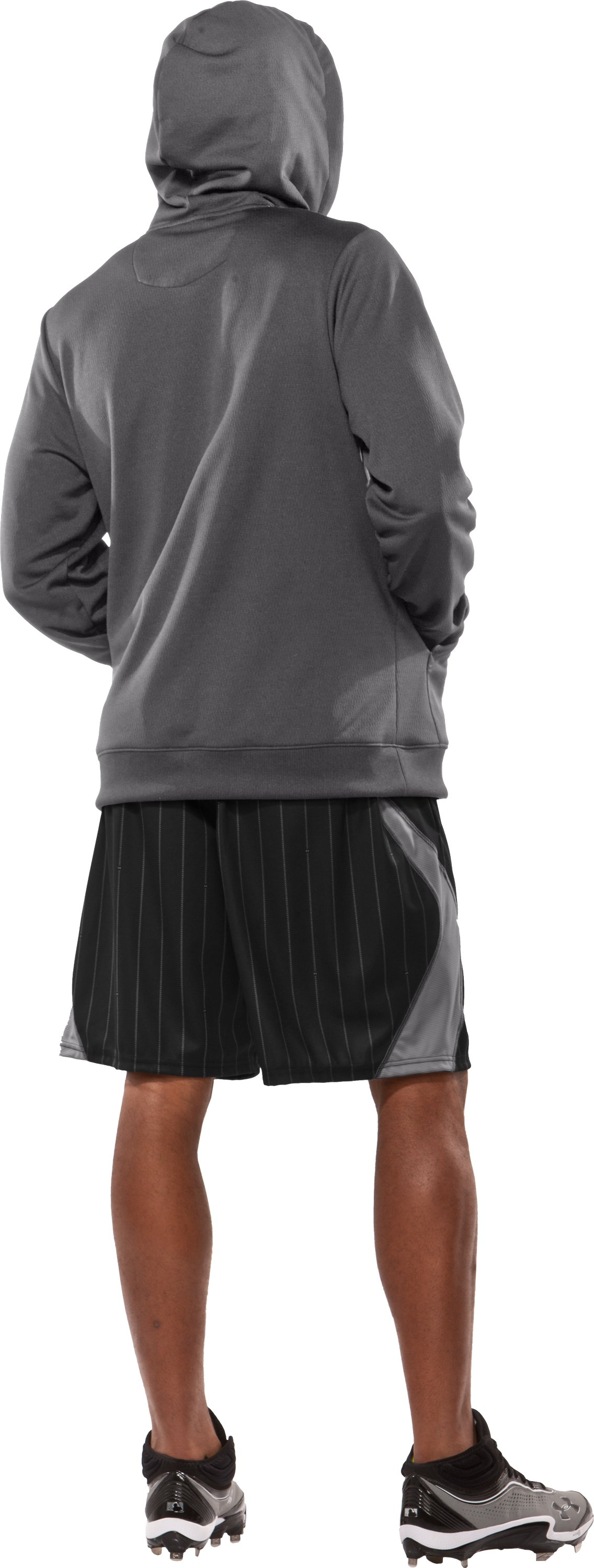"Men's UA CTG Pinstripe 11"" Baseball Shorts, Black , Back"