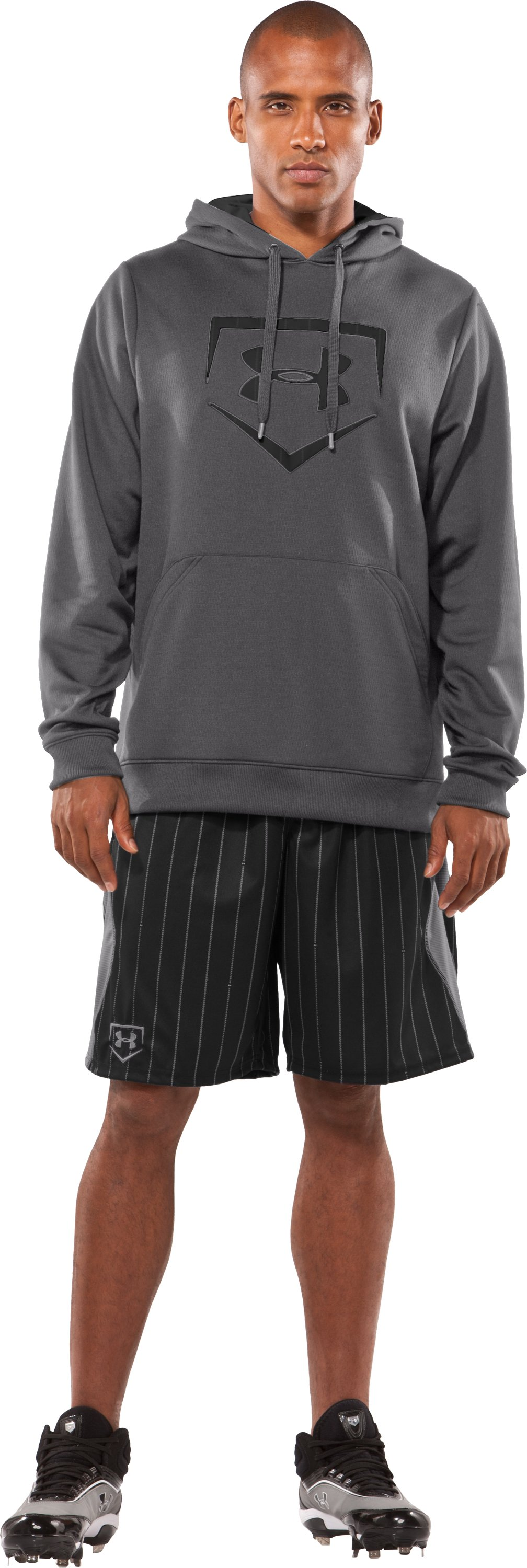 "Men's UA CTG Pinstripe 11"" Baseball Shorts, Black , zoomed image"