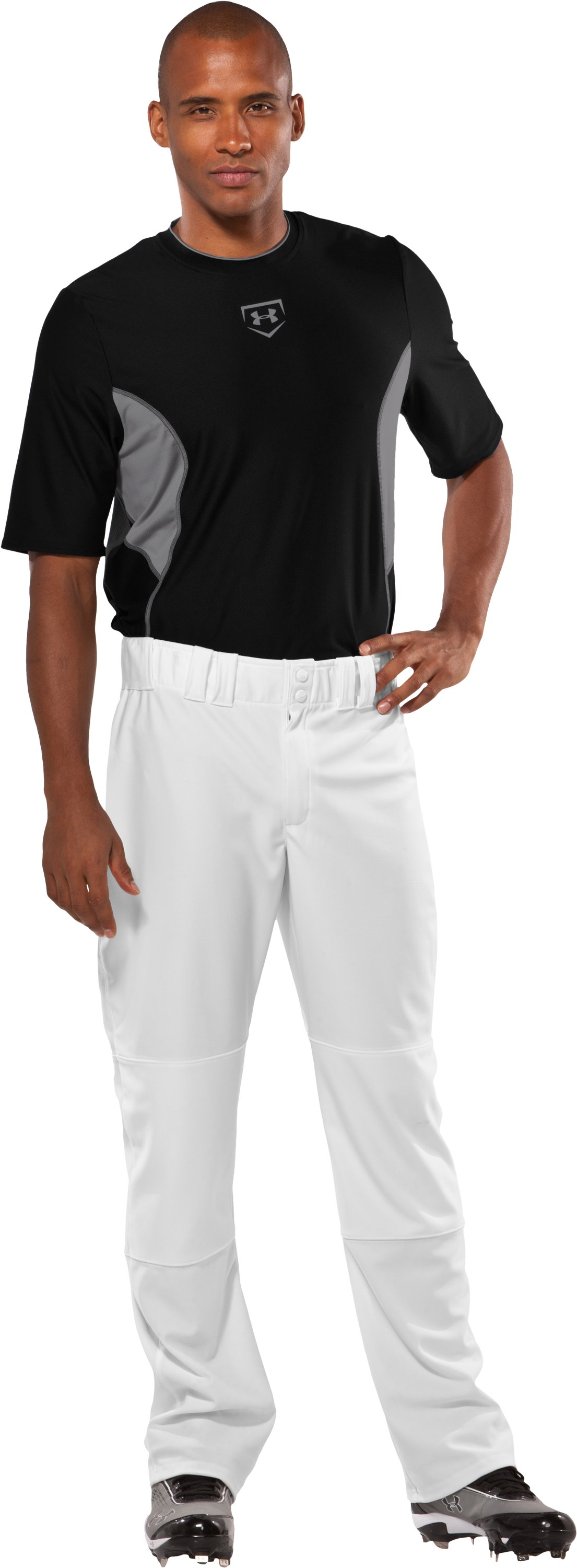"Men's Huntington II 33"" Baseball Pants, White, Front"