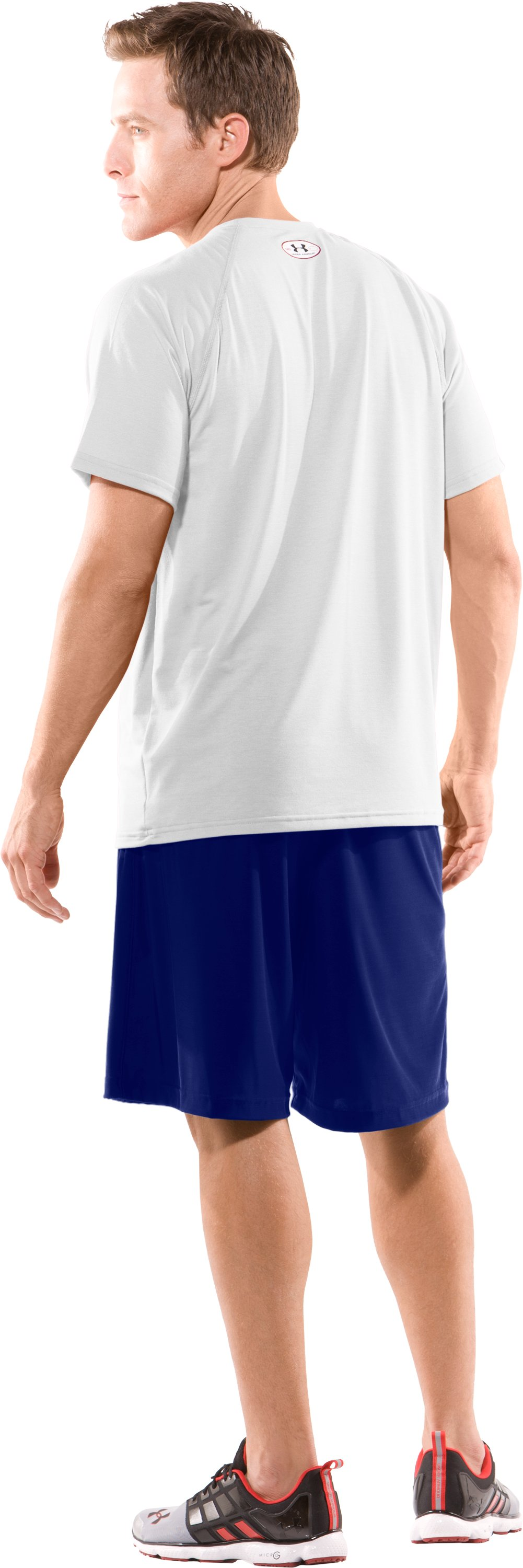 Men's Team Micro Short II, Royal, Back