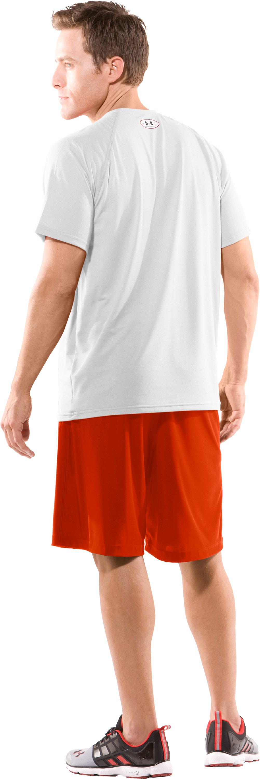 Men's Team Micro Short II, Dark Orange, Back