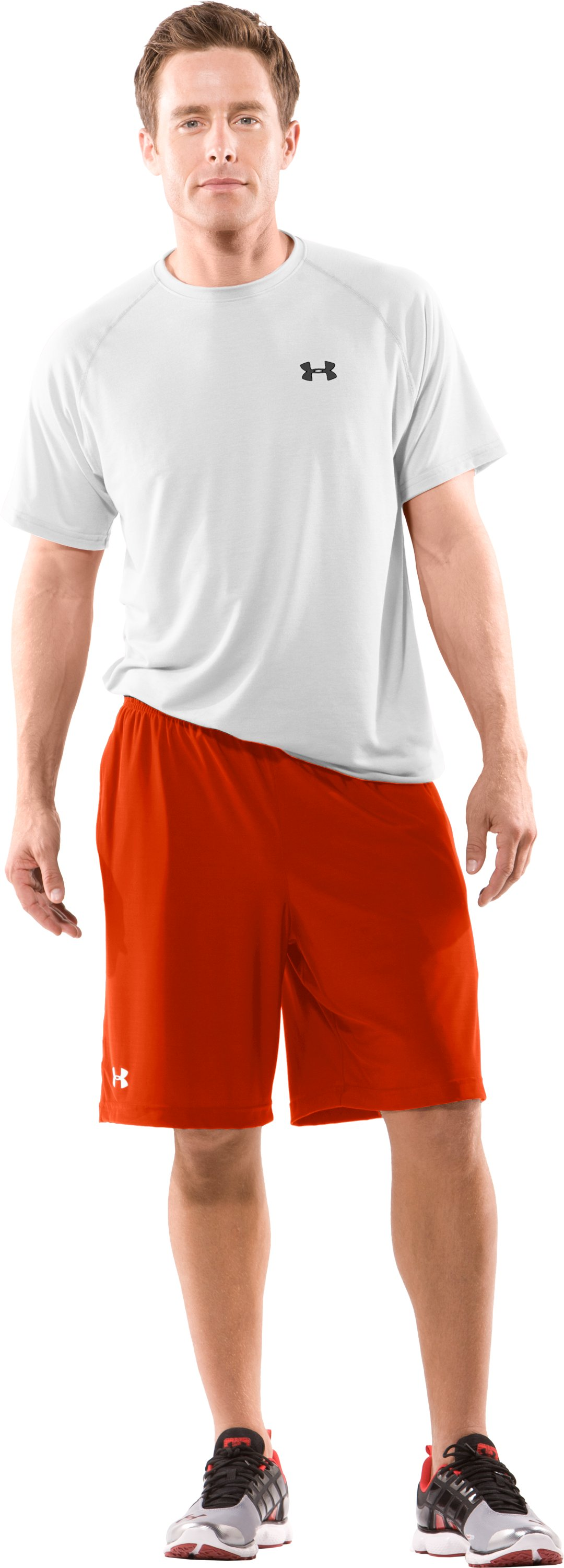 Men's Team Micro Short II, Dark Orange, Front